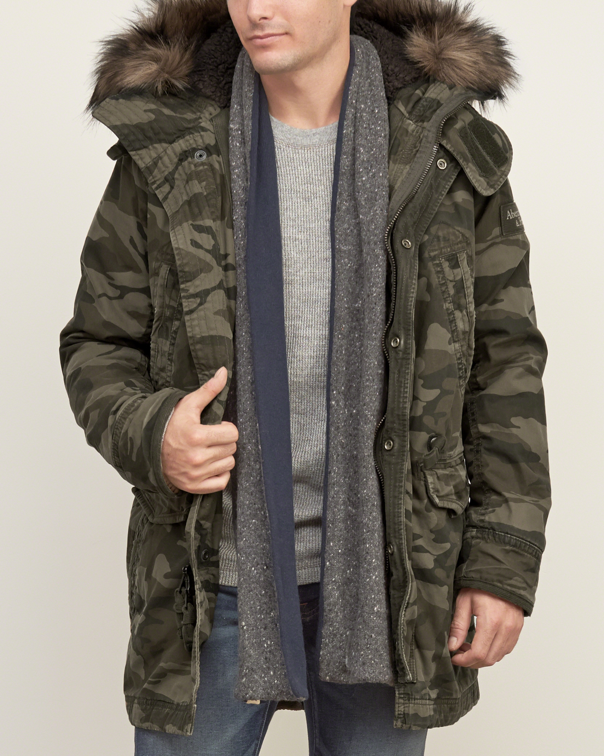 Abercrombie & fitch Sherpa-lined Premium Fishtail Parka for Men | Lyst