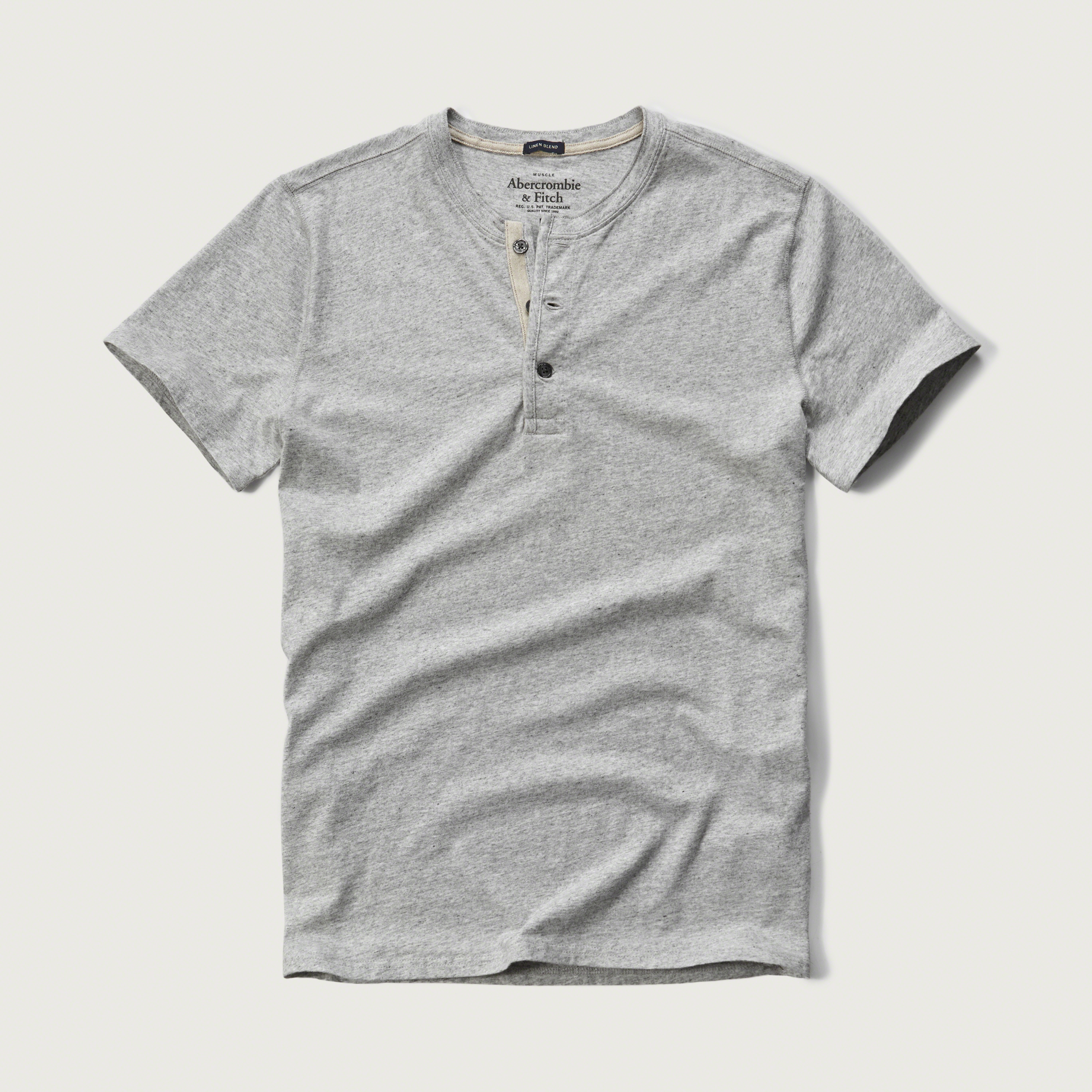 Abercrombie Fitch Short Sleeve Henley In Gray For Men Lyst