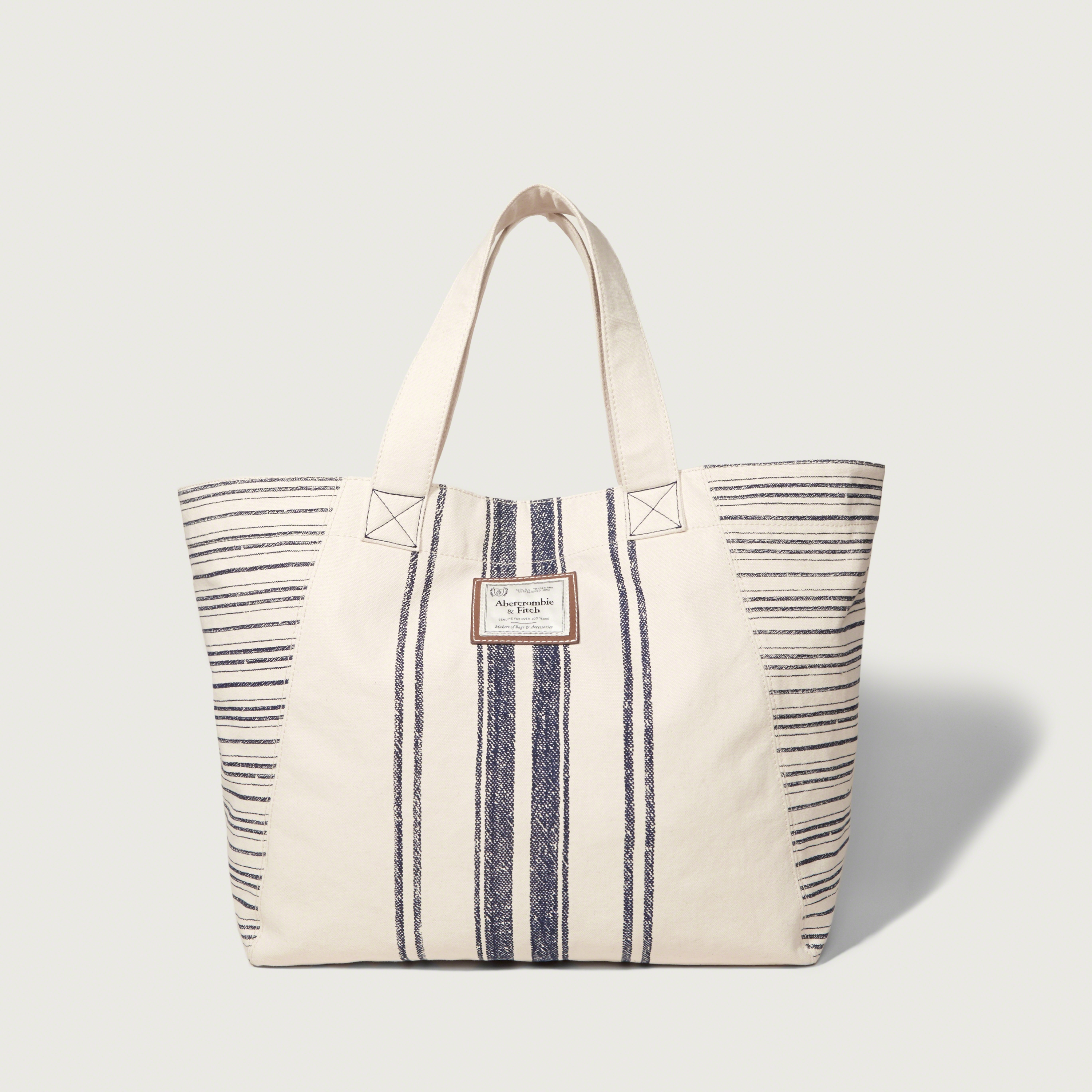 550c62ac7d50 Lyst - Abercrombie   Fitch Striped Tote in White