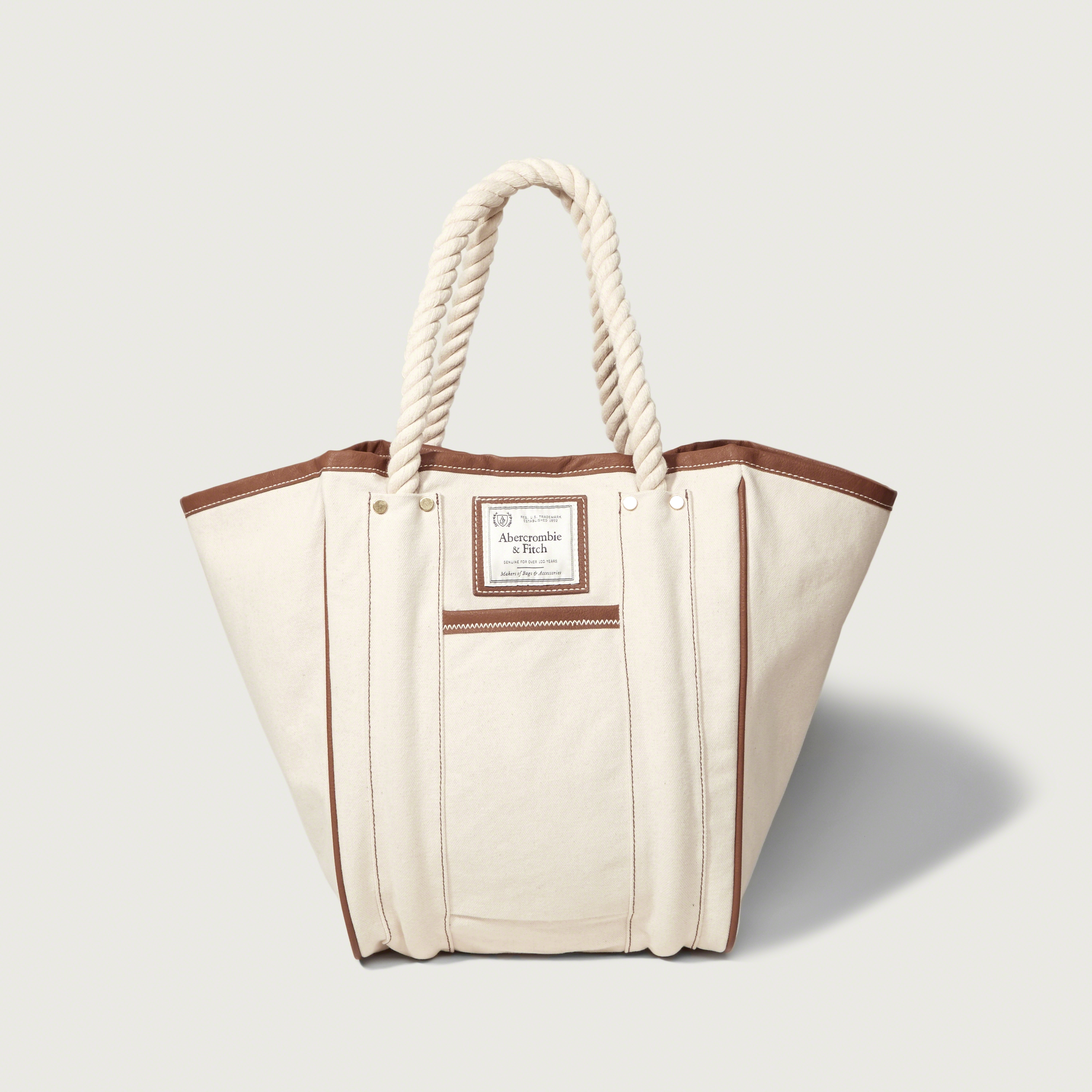 a1ea7e4359fd Lyst - Abercrombie   Fitch Rope Handle Tote in Natural