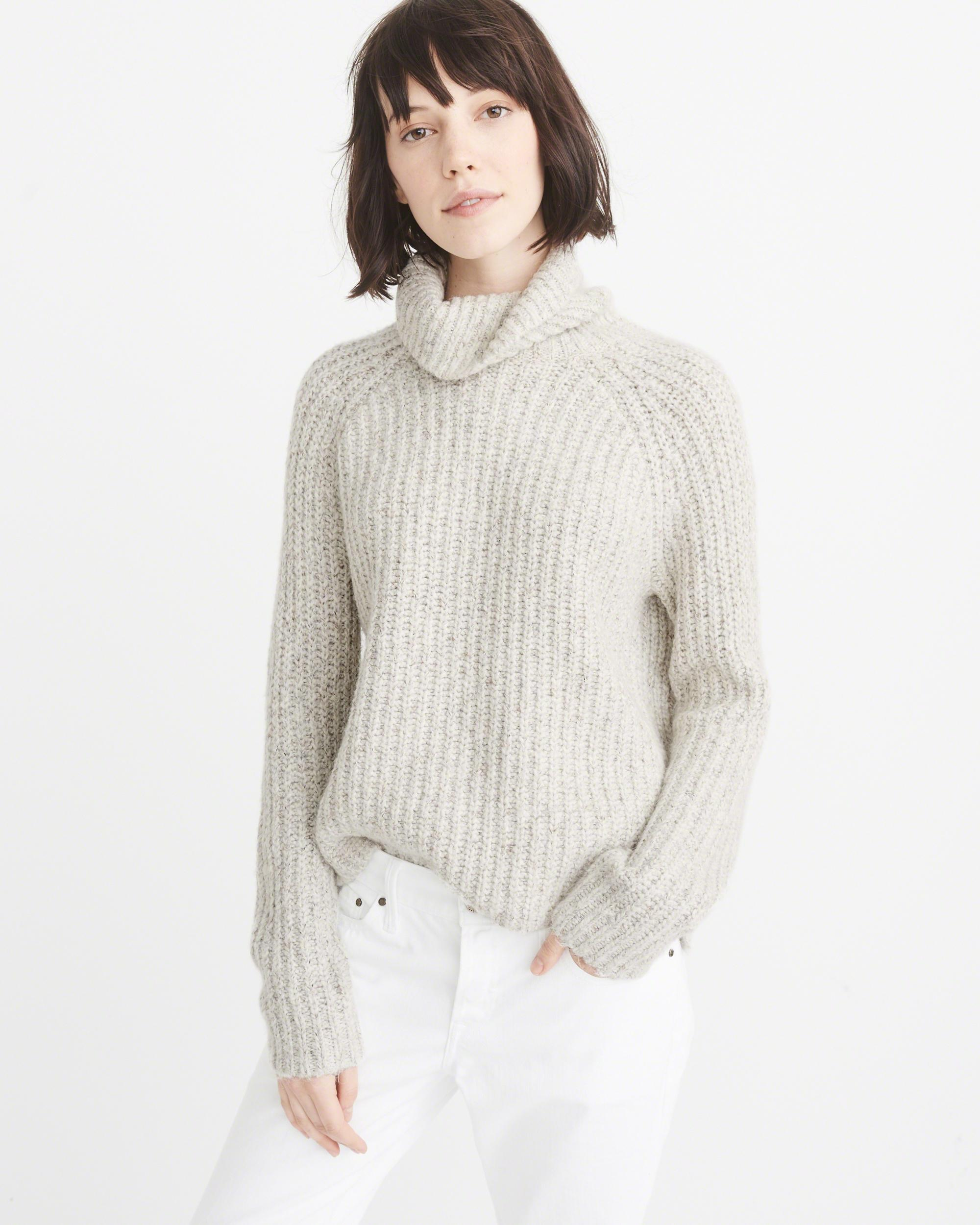 Abercrombie & fitch Shaker Turtleneck Sweater Exchange Color ...