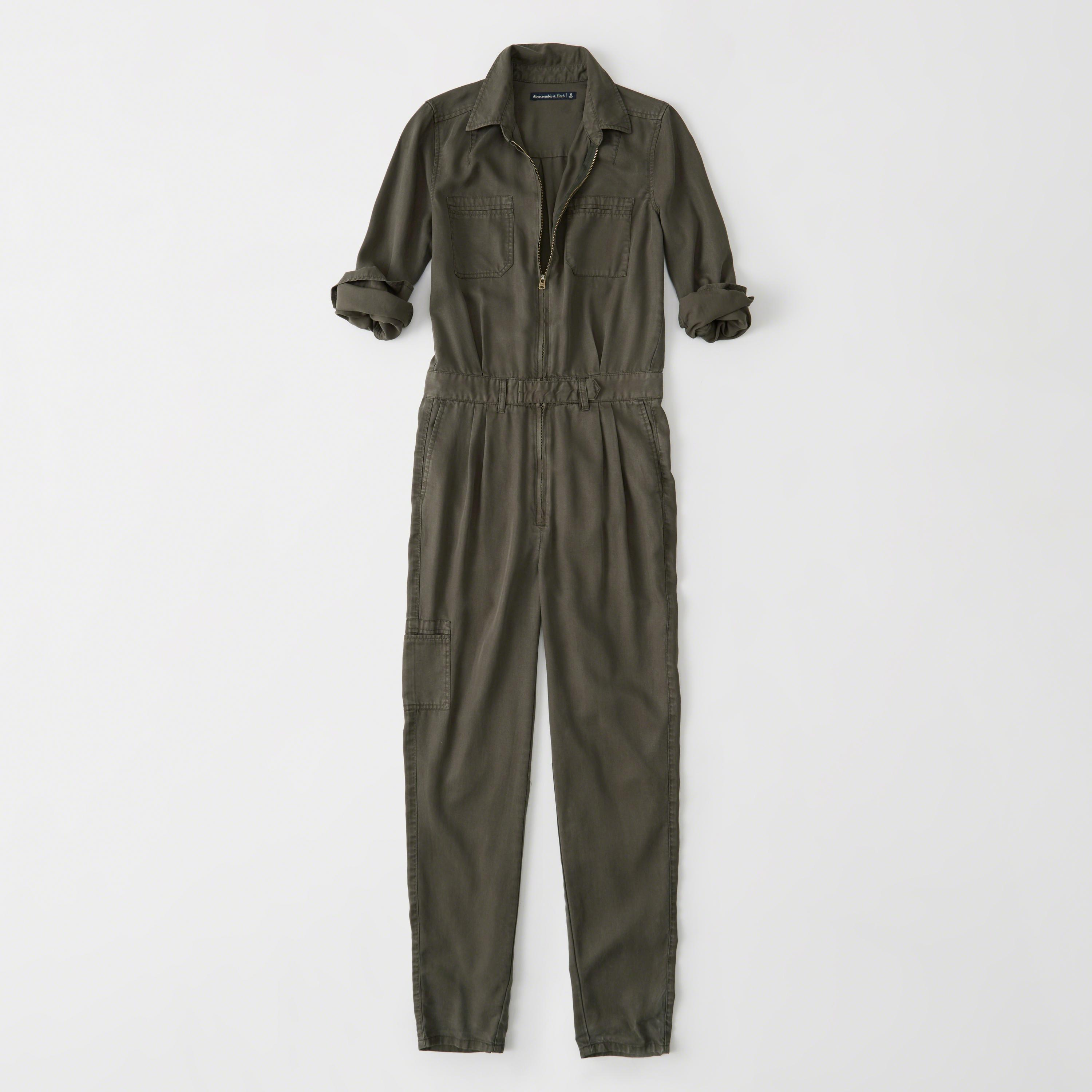 9d8cce3564b Abercrombie   Fitch Utility Jumpsuit in Green - Lyst