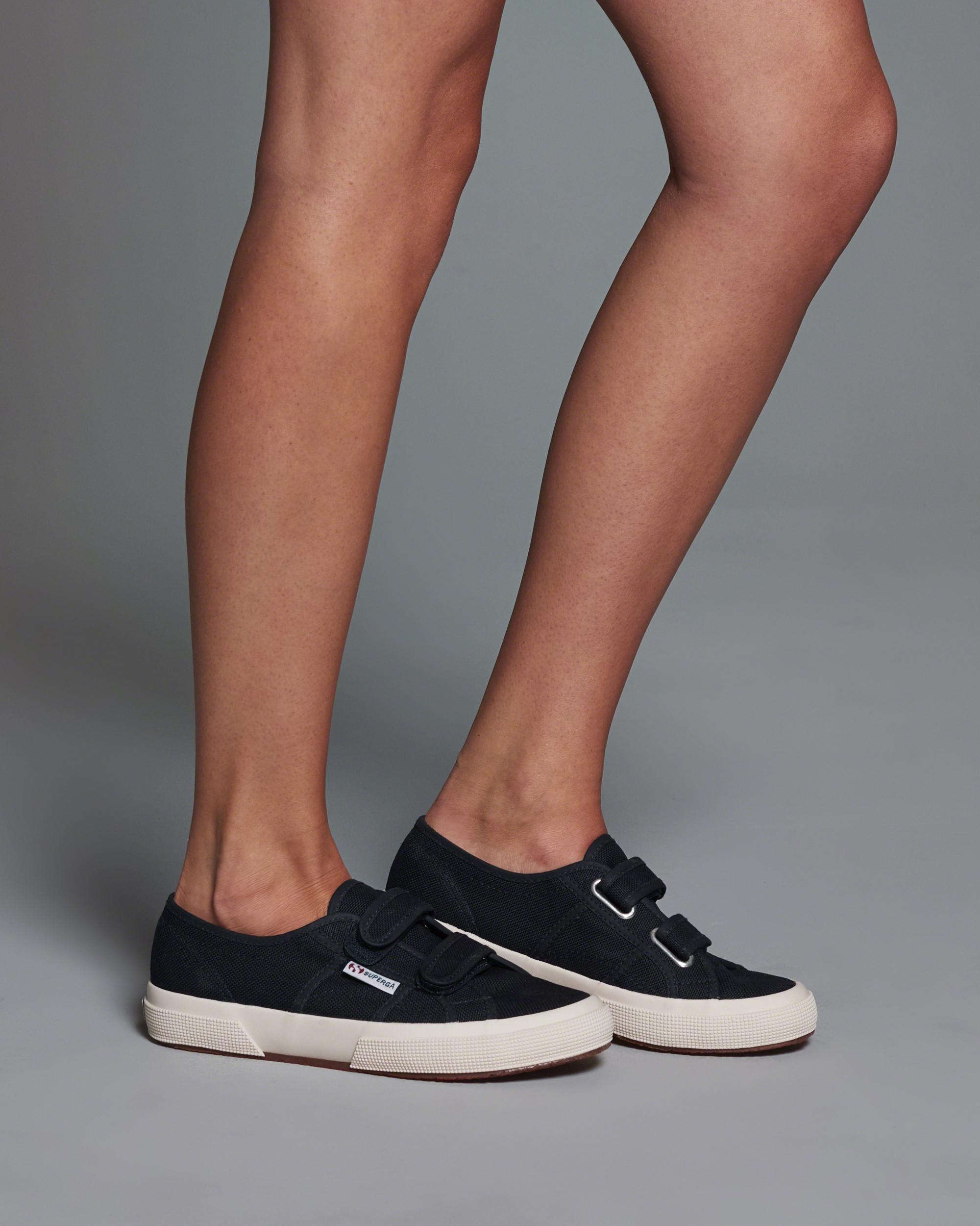 Abercrombie  U0026 Fitch Superga Velu Velcro Sneakers In Blue