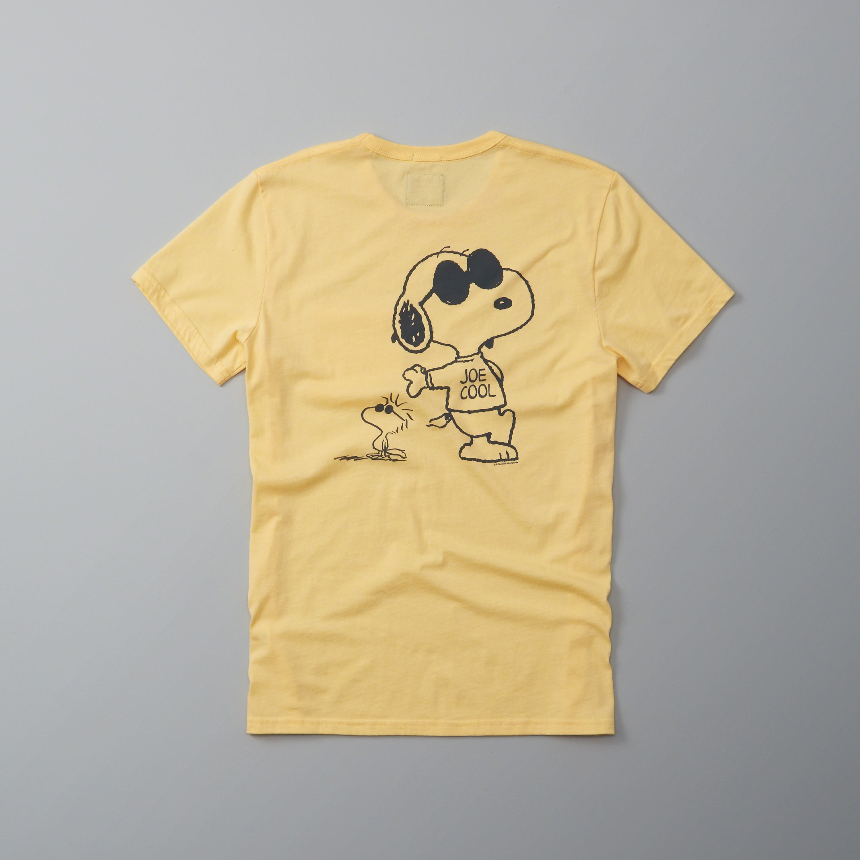 Lyst abercrombie fitch peanuts graphic tee in yellow for Abercrombie and fitch tee shirts