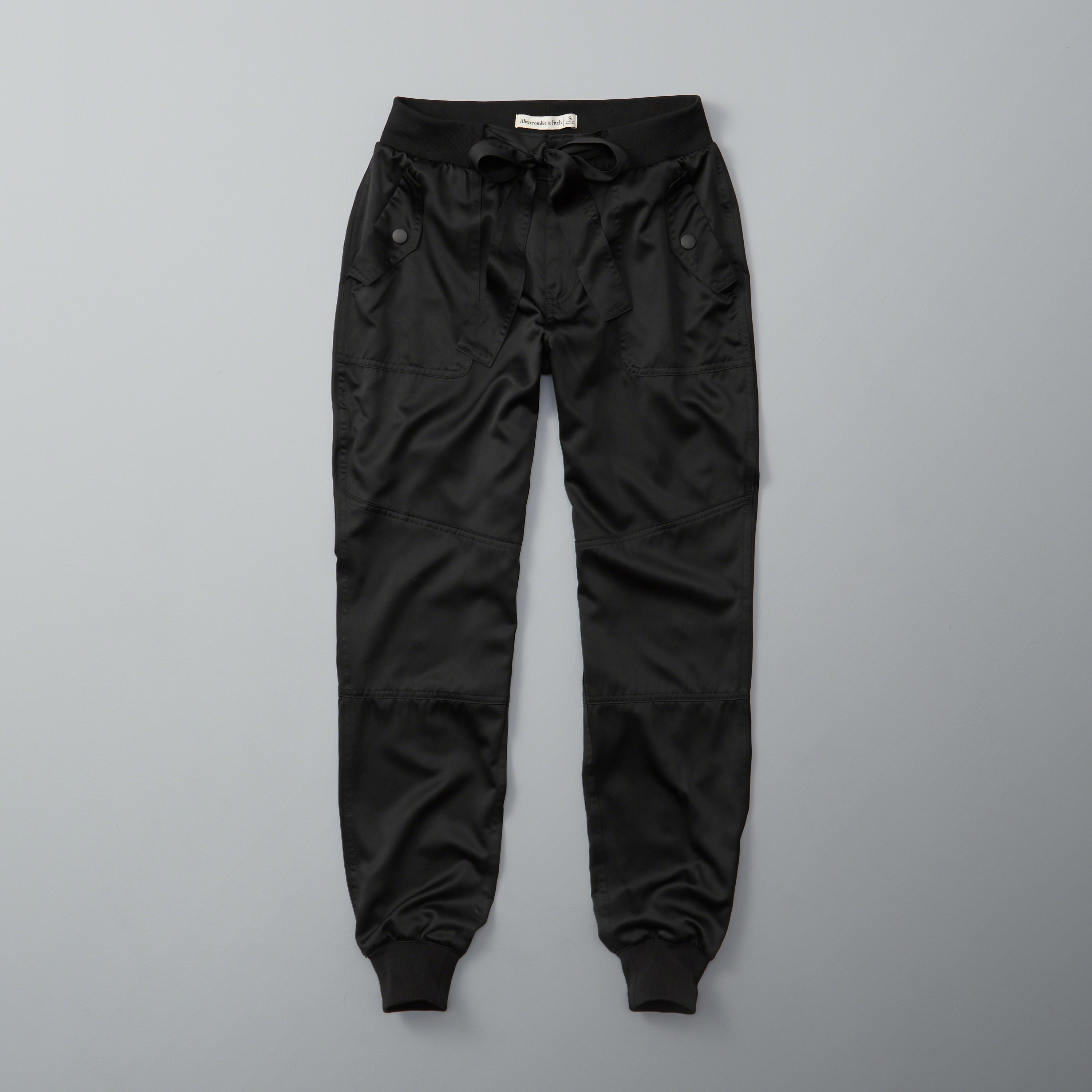 Abercrombie Fitch Accessories Abercrombie Fitch Womens: Abercrombie & Fitch Satin Joggers In Black