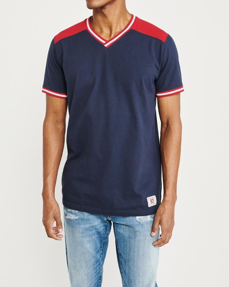 ef1978d1 Lyst - Abercrombie & Fitch Crossover V-neck Tee in Blue for Men