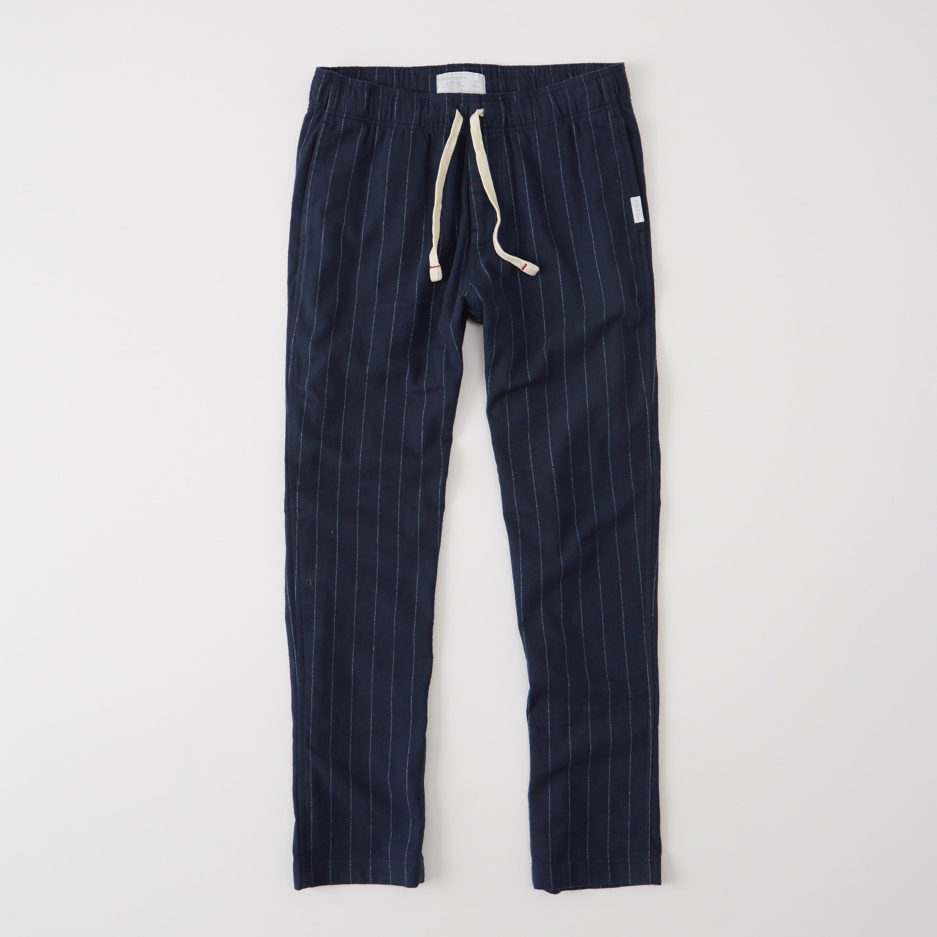 Lyst Abercrombie Amp Fitch Classic Sleep Pants In Blue For Men