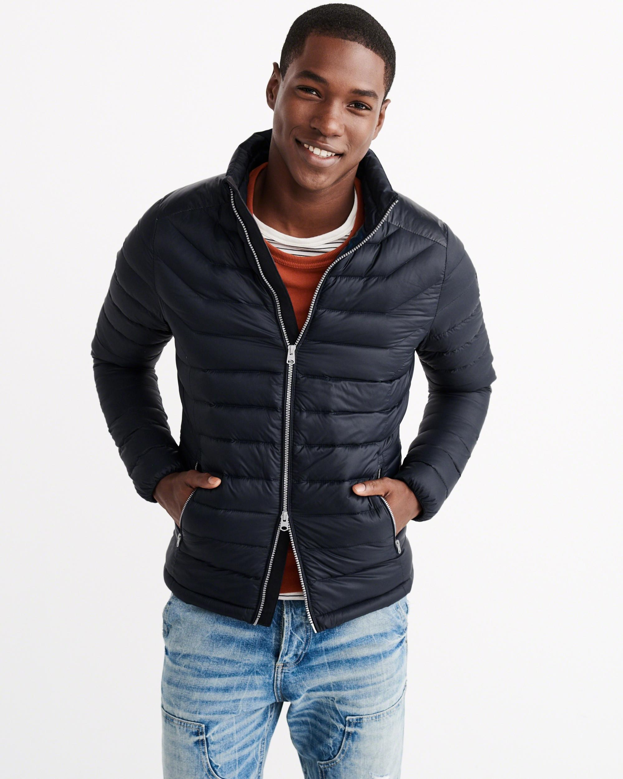 Abercrombie And Fitch Clothing Abercrombie And Fitch Hoodies Abercrombie And Fitch Jackets Abercrombie And Fitch Sweater: Abercrombie & Fitch Lightweight Puffer Jacket In