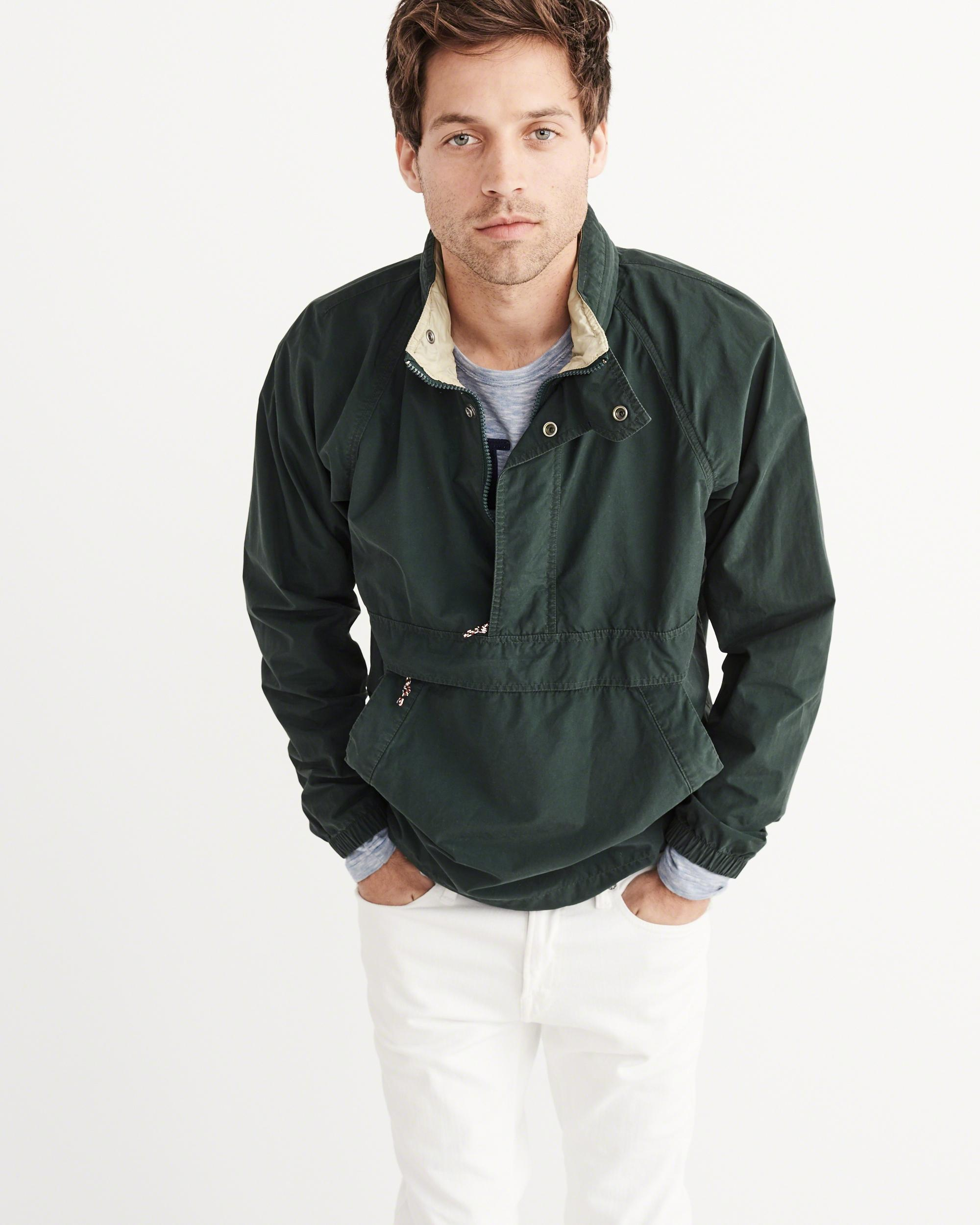 Abercrombie & Fitch Popover Jacket In Green For Men