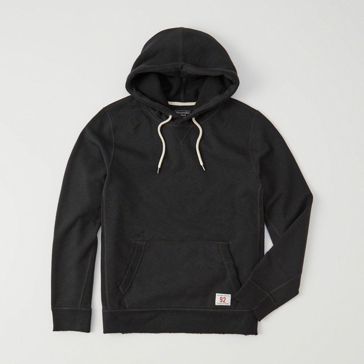 Abercrombie & Fitch Heavyweight Ripped Hoodie In