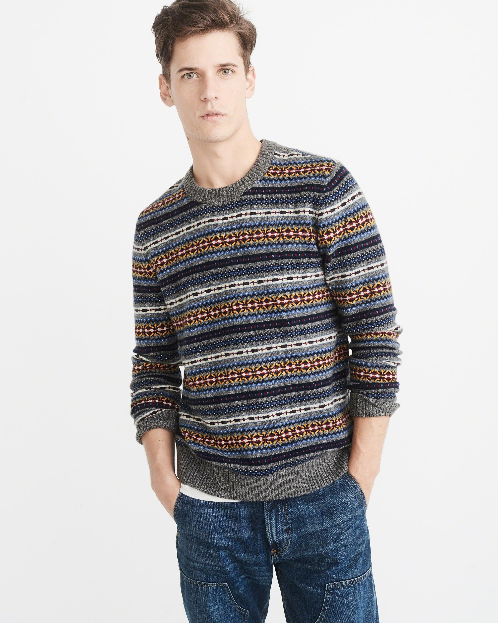 Abercrombie & fitch Fairisle Sweater Exchange Color / Size for Men ...