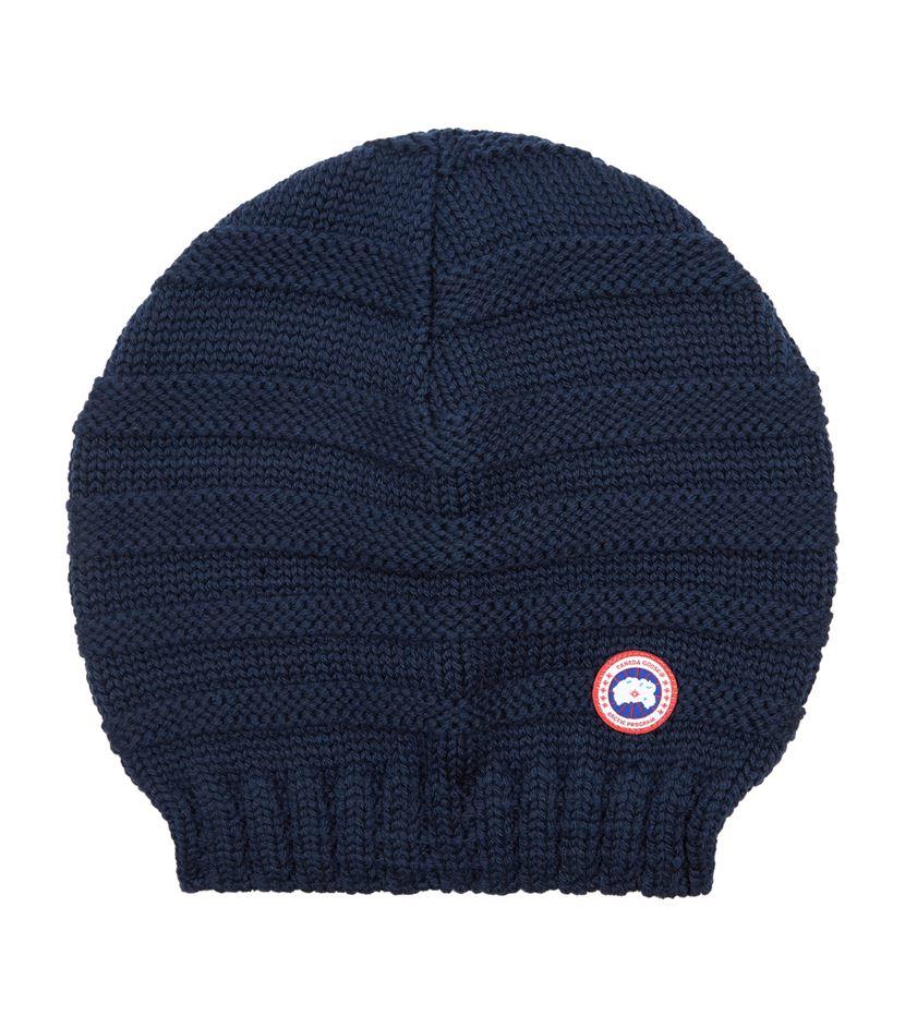 Canada goose Merino Slouchy Beanie Hat in Blue for Men | Lyst