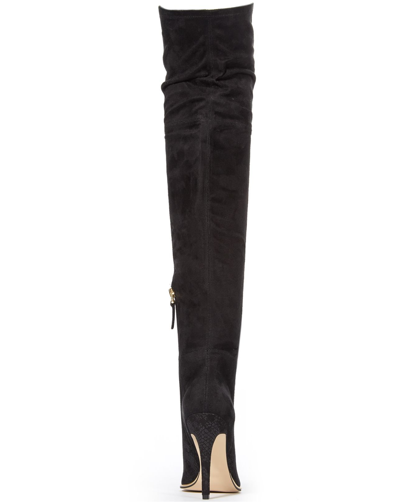 guess s zonian the knee boots in black lyst