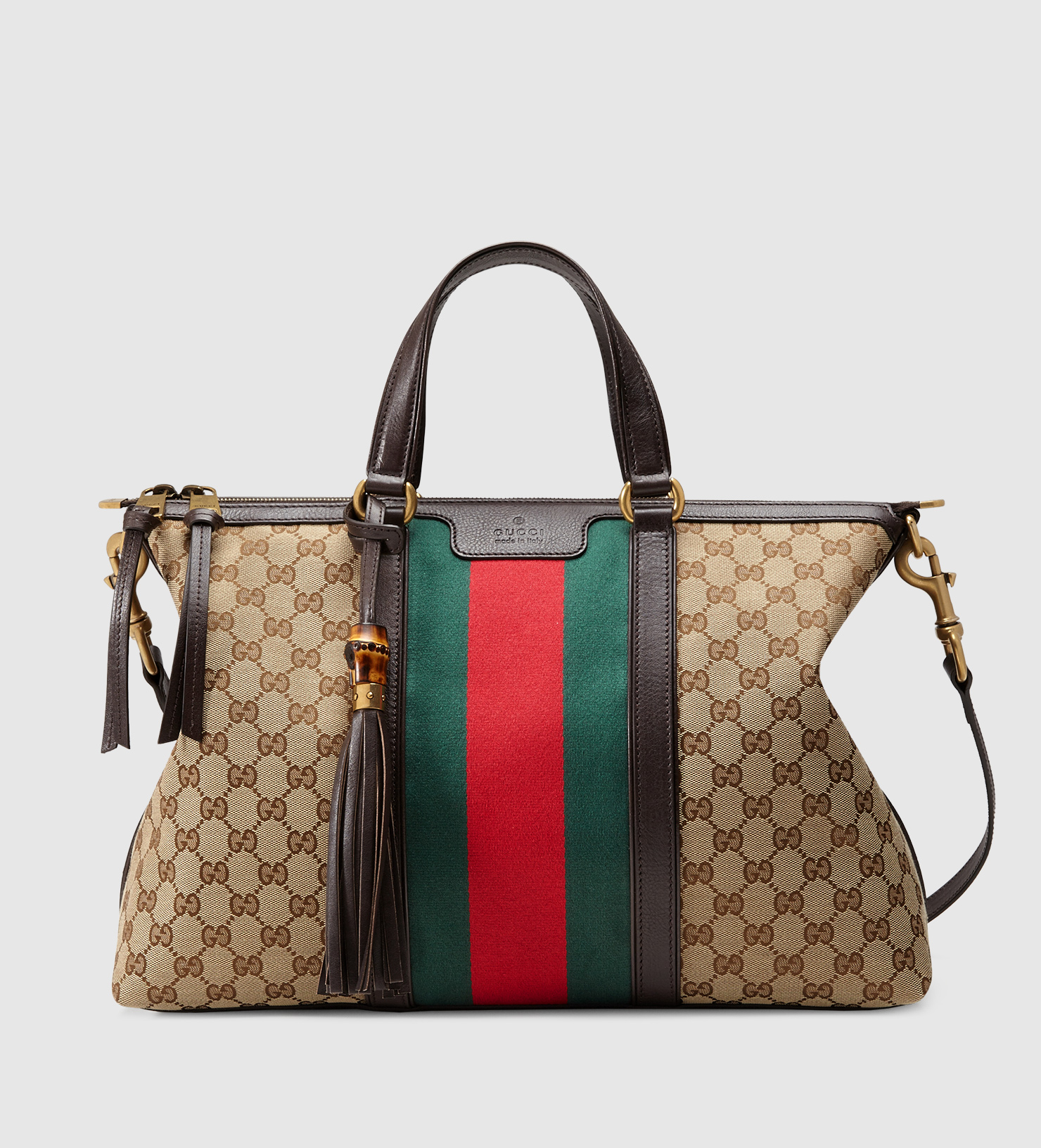 c4a9aac975 Gucci Rania Original Gg Canvas Top Handle Bag in Brown - Lyst