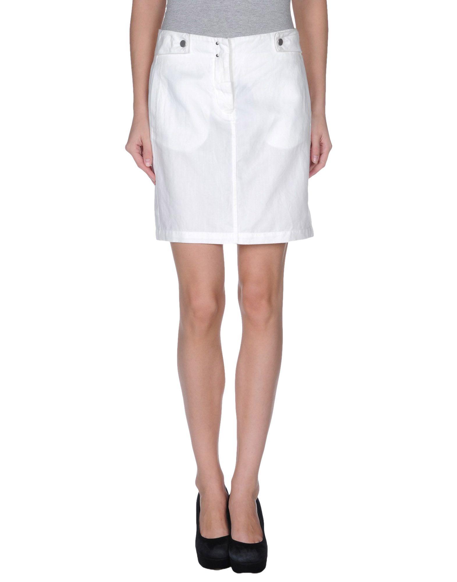 Mm6 by maison martin margiela mini skirt in white lyst for 10 moulmein rise la maison