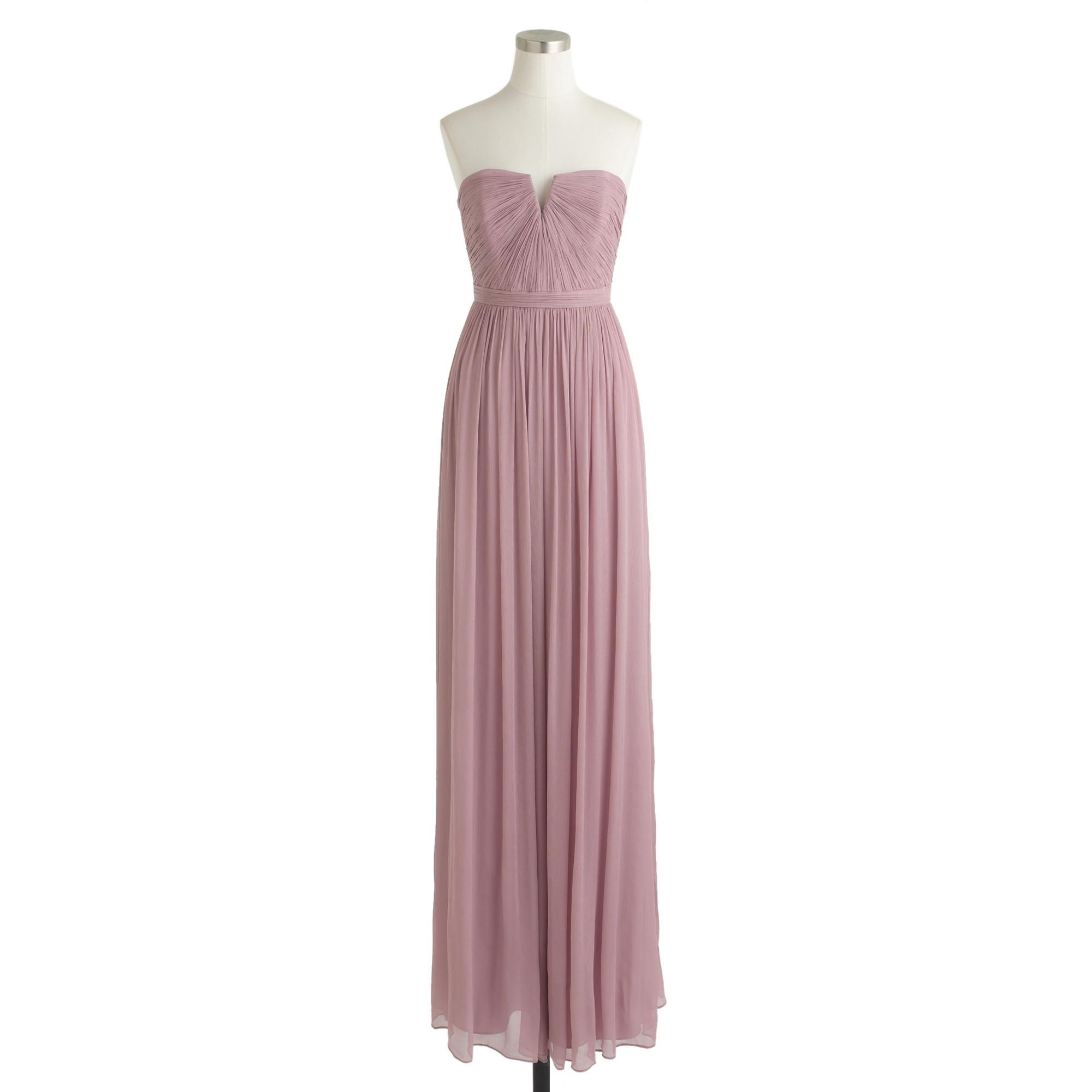 2400217034e1 J.Crew Nadia Long Dress In Silk Chiffon in Pink - Lyst