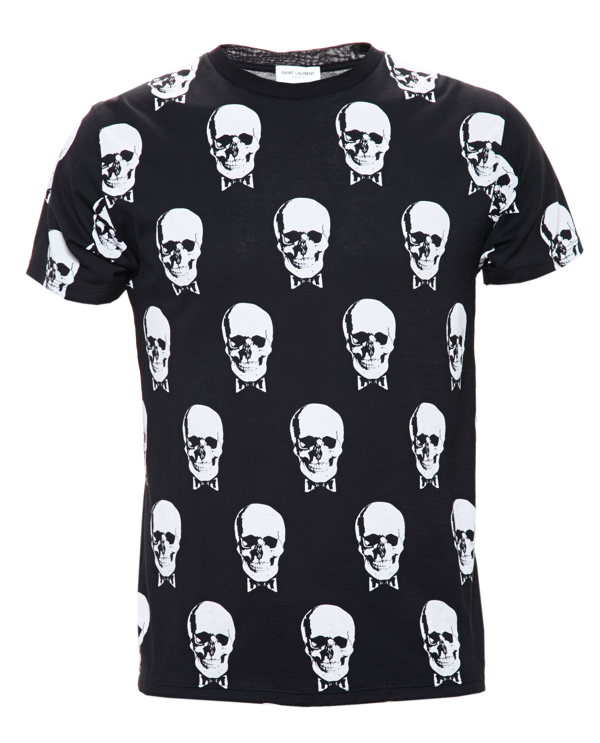 ad11e574a Saint Laurent Skull-print Cotton-jersey T-shirt in Black for Men - Lyst