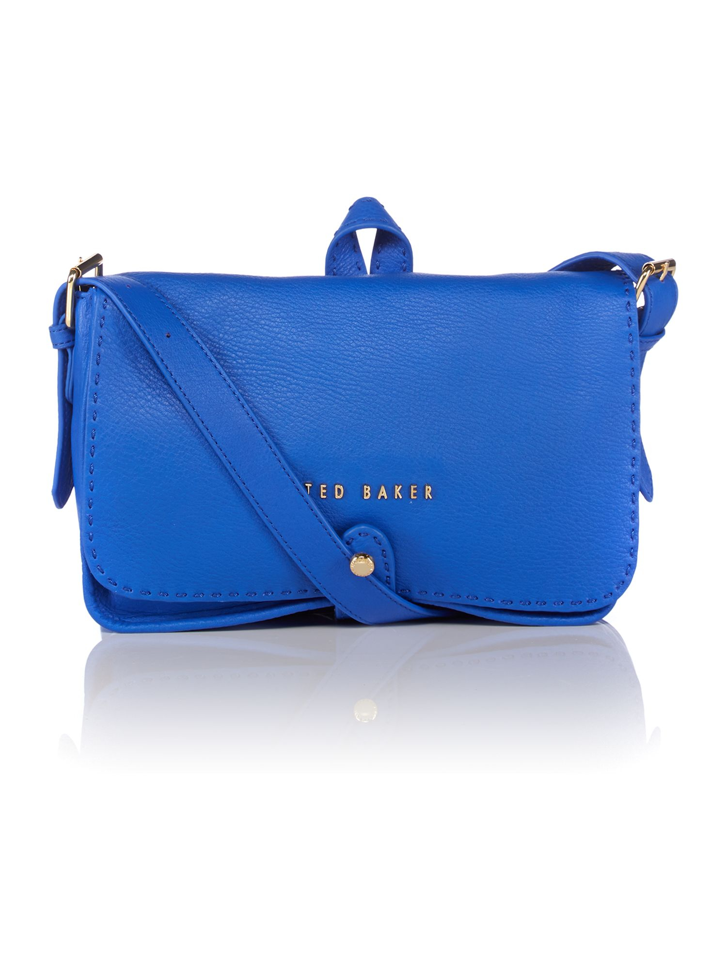 Ted Baker Blue Medium Leather Cross Body Bag in Blue