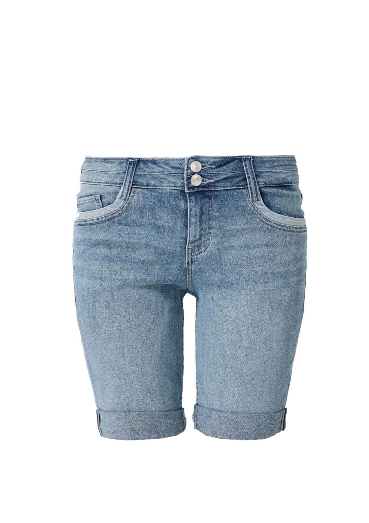 S.oliver Smart Bermuda: Stretchige Jeansshorts in Blau fqePY