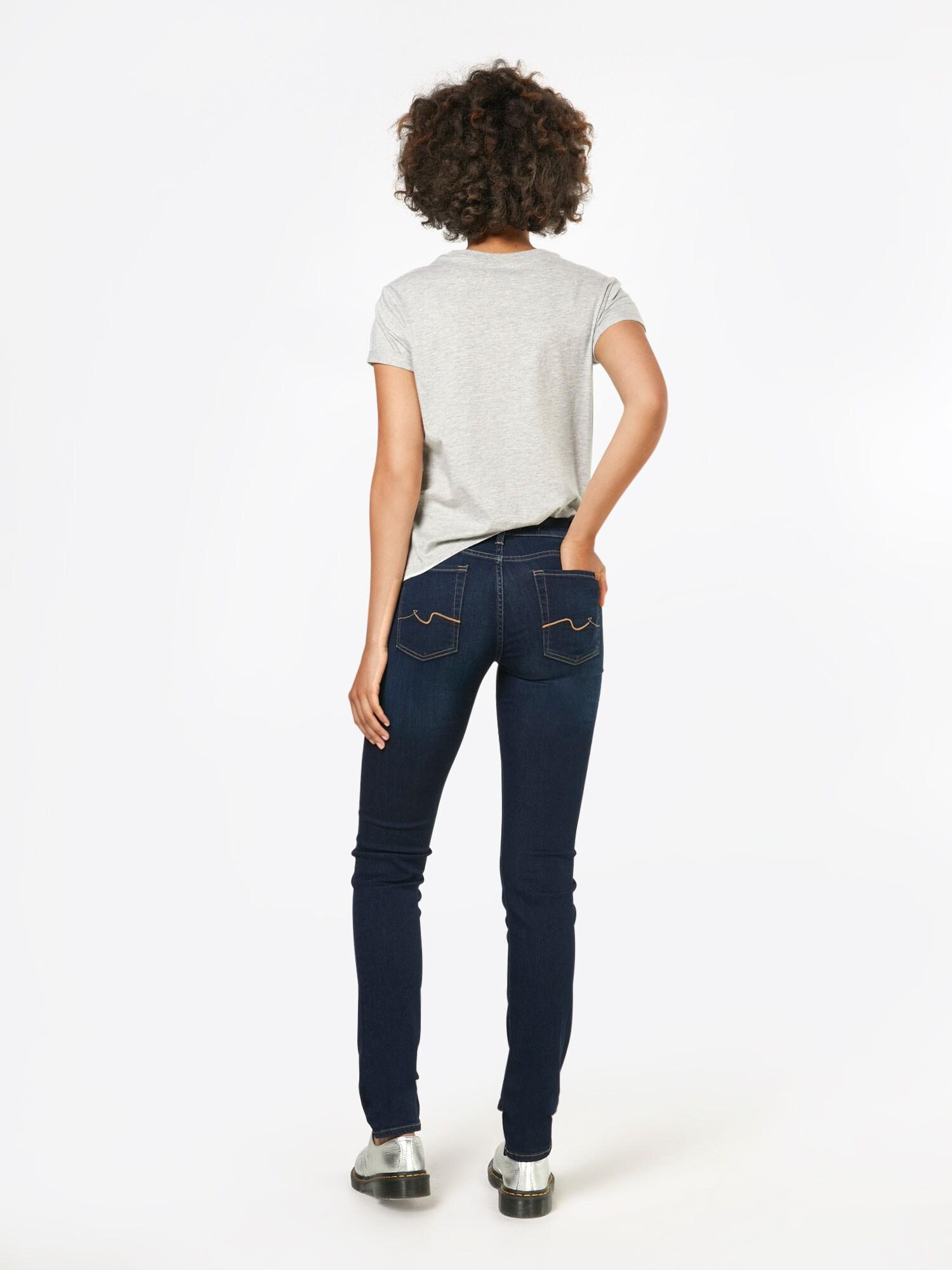7 For All Mankind Denim Jeans 'ROXANNE' in Blau 1Sfbx