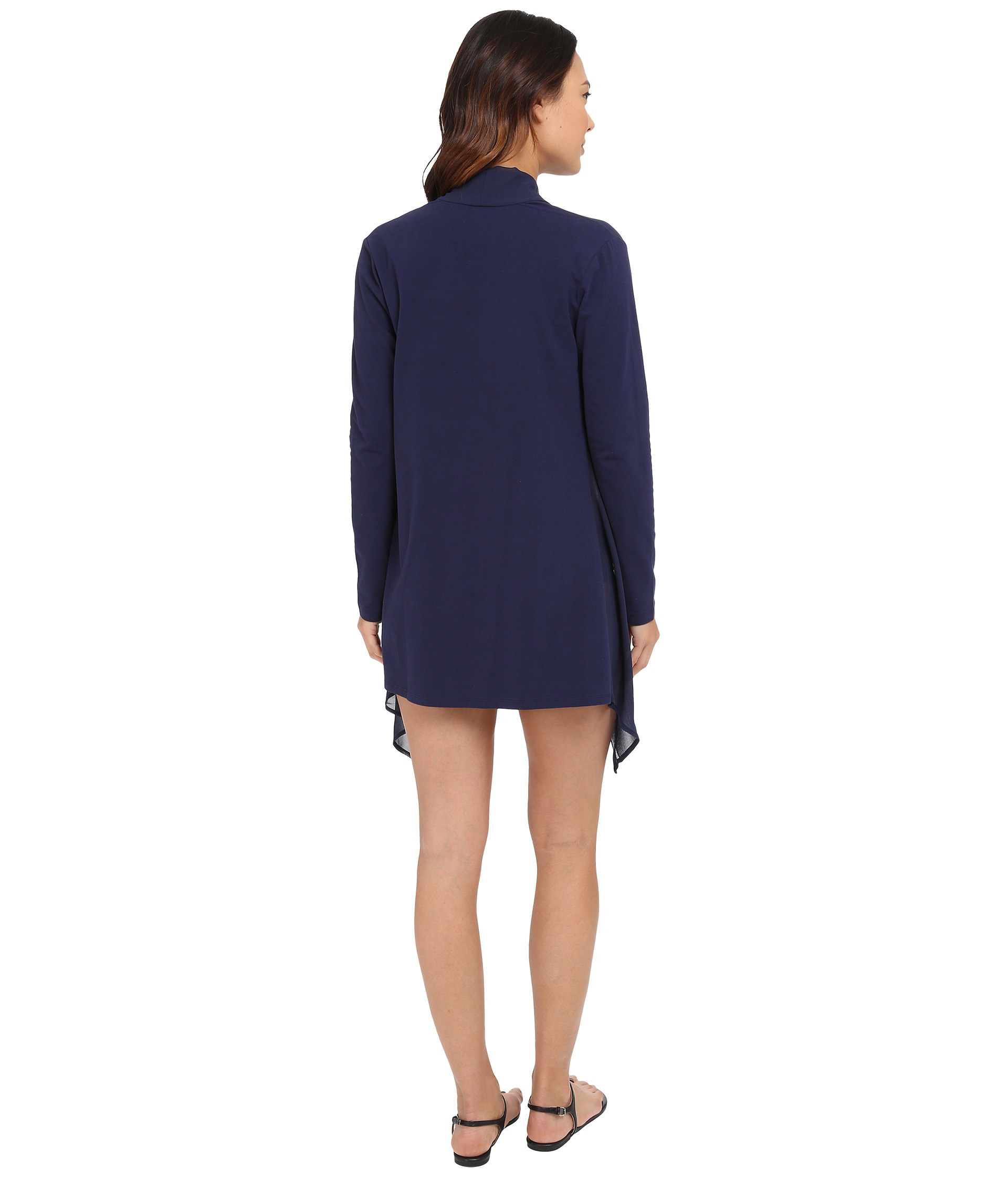 Tommy bahama Knit Chiffon Sheer Front Cardigan Cover-up in Blue | Lyst