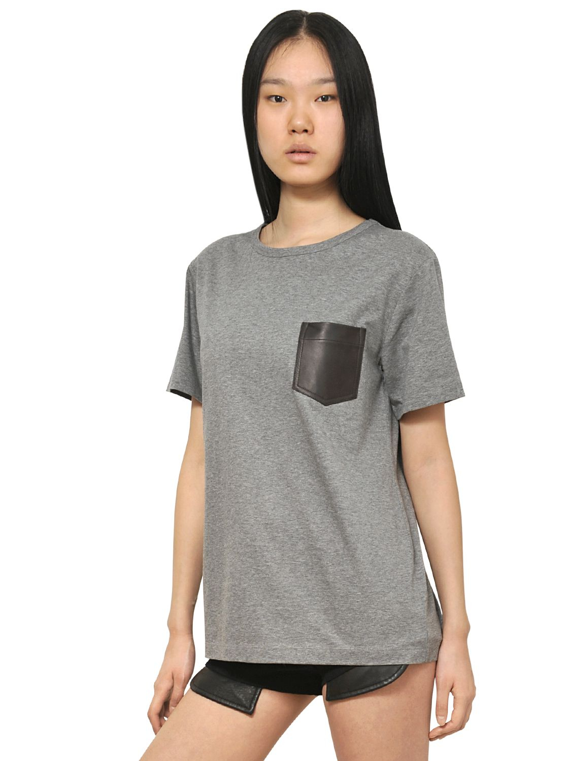 Alexander wang t collection pima cotton jersey t shirt in for Alexander wang t shirts