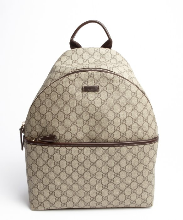 b6370a9a6000 Gucci Beige Gg Print Canvas Backpack in Natural for Men