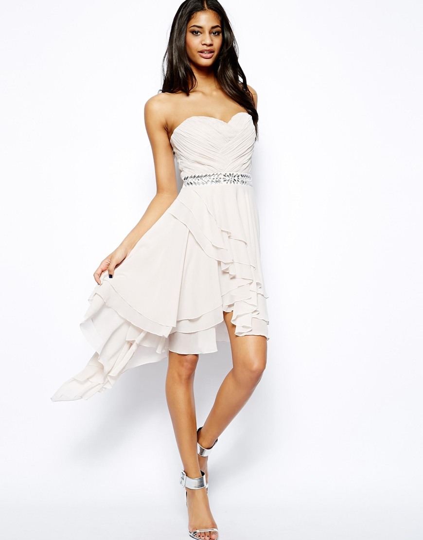 Lyst - Lipsy Bandeau Prom Dress With Embellished Waist in Purple 6dfa5e1bb