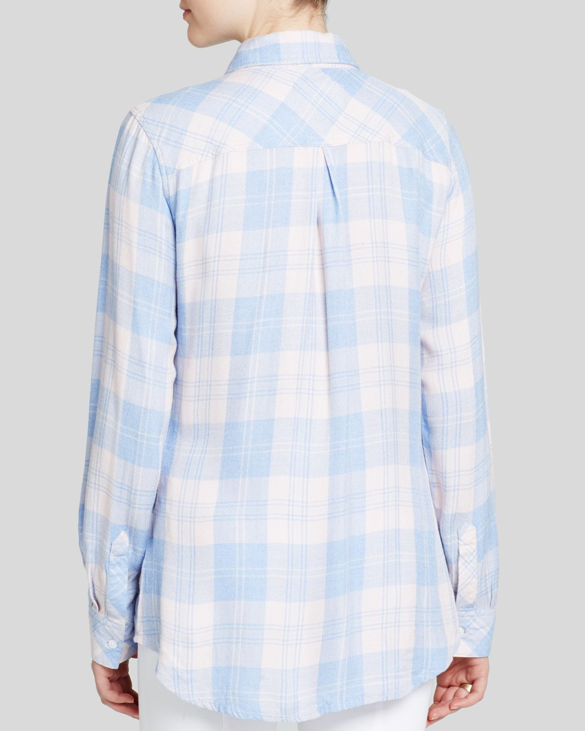 Rails bloomingdale 39 s exclusive plaid button down shirt in for Pastel pink button down shirt