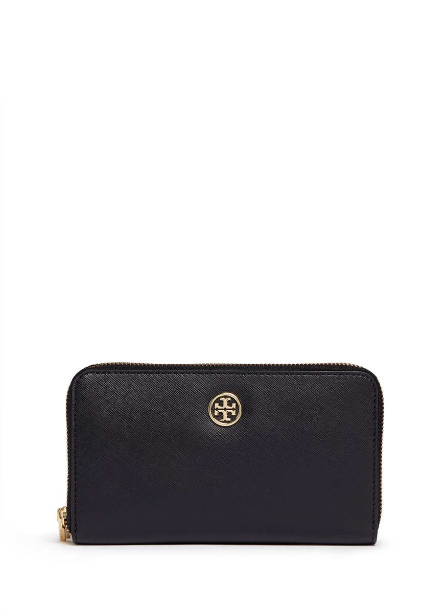284d317034cb Tory Burch Parker Double Zip Mini Bag Clutches 40086405. Gallery. Lyst Tory  Burch Robinson Double Zip Continental Wallet In Black
