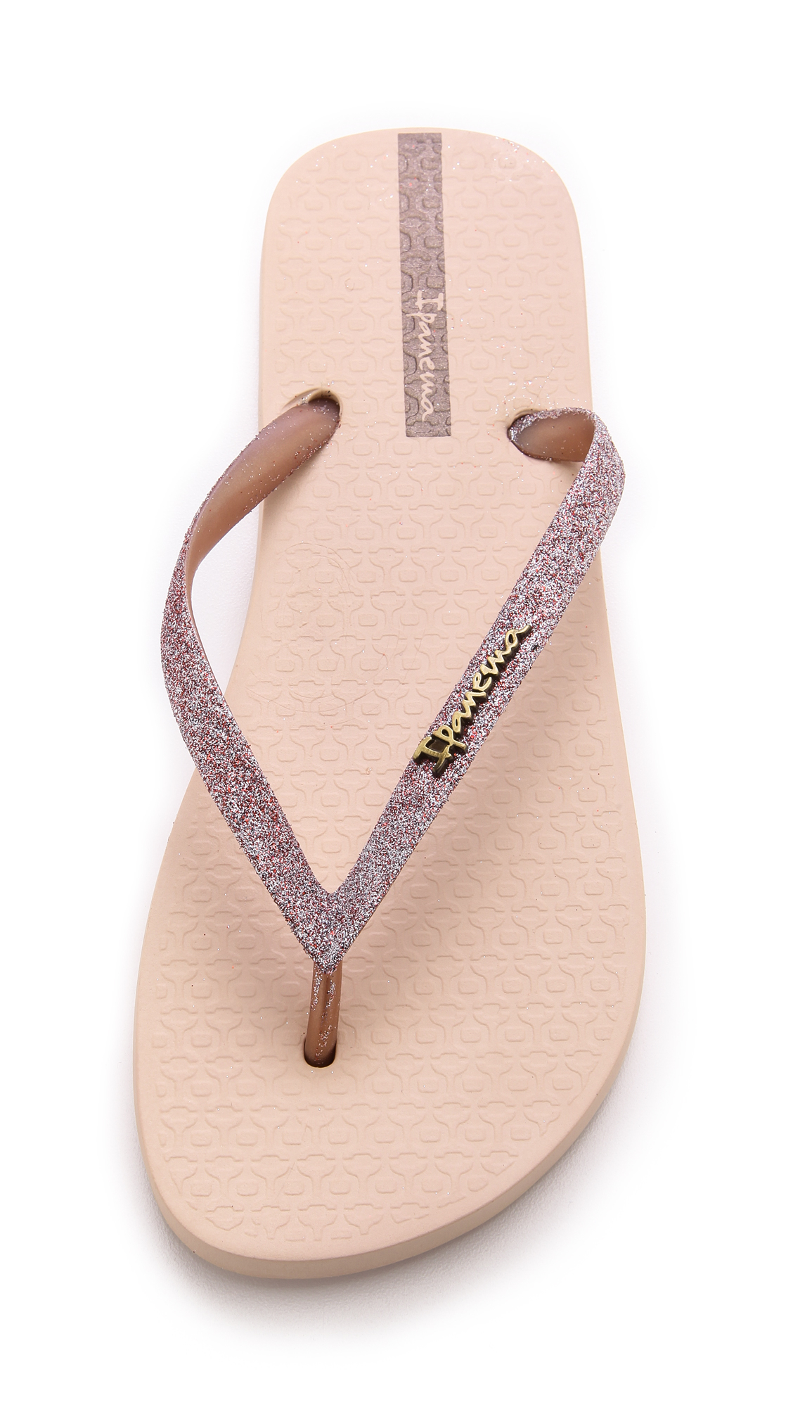 381a98acdcb Ipanema Glitter Ii Flip Flops - Silver in Pink - Lyst