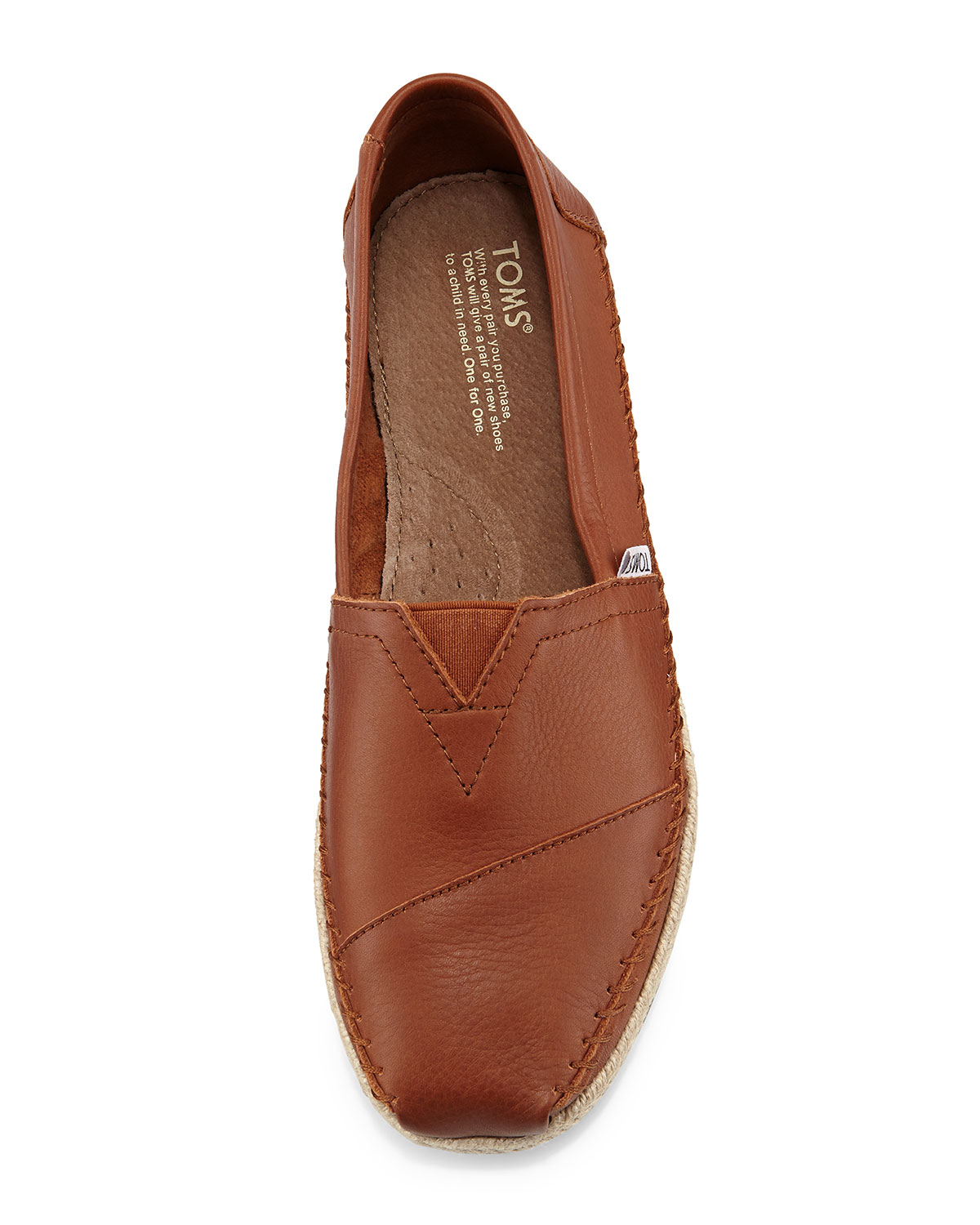 Lyst Toms Classic Full Grain Leather Rope Sole Slip On
