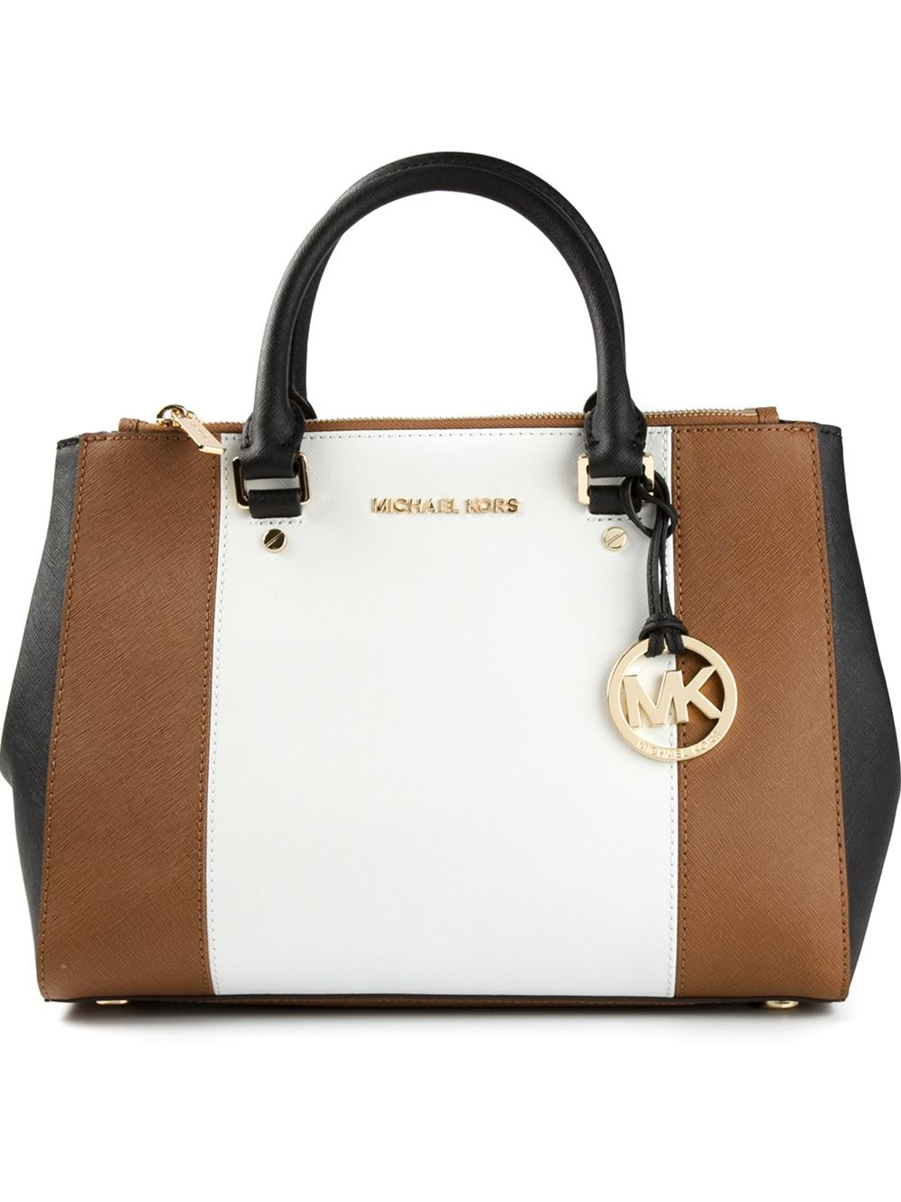 1fd7aff90e57 Lyst - MICHAEL Michael Kors Jet Set Travel Tote in Brown