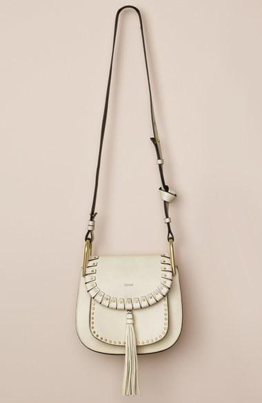 bd0b648e Chloé White Hudson Small Studded Shoulder Bag