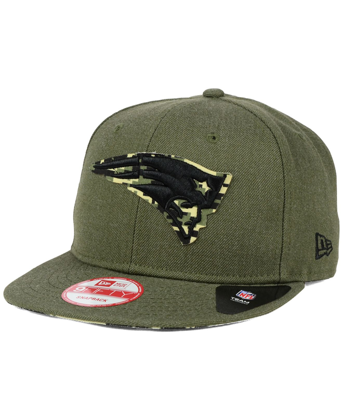huge selection of c3aaa 6da07 ... order lyst ktz new england patriots camo 9fifty snapback cap in green  fd06a ce9b1