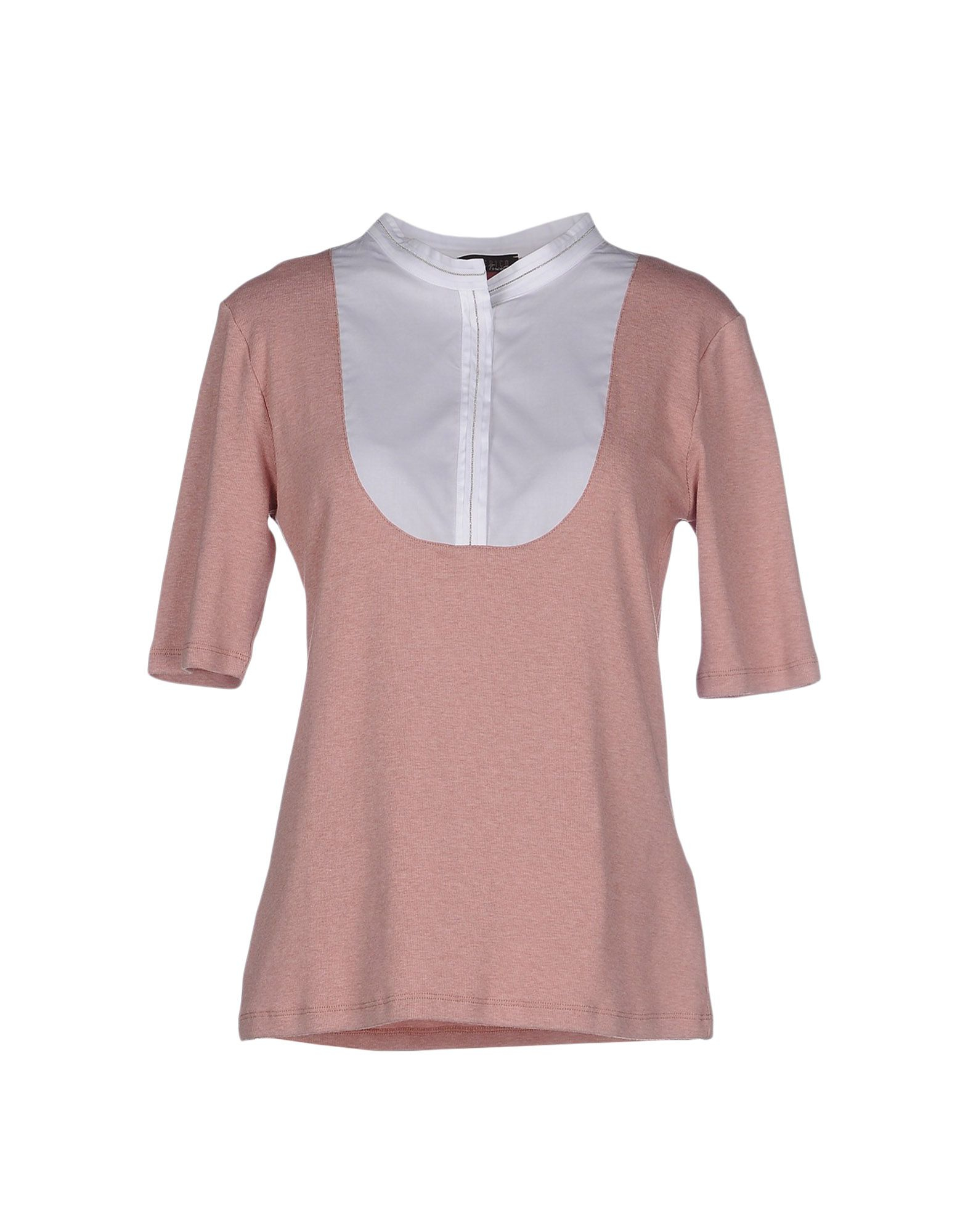 Peserico t shirt in pink lyst for Pastel pink dress shirt