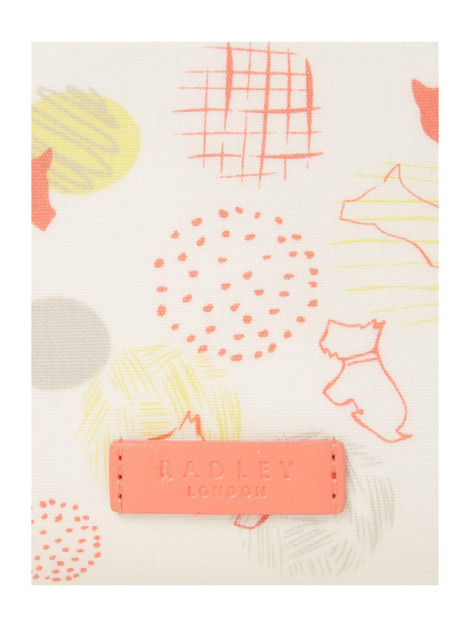 Radley Scribble Print Multicoloured Medium Crossbody in Natural