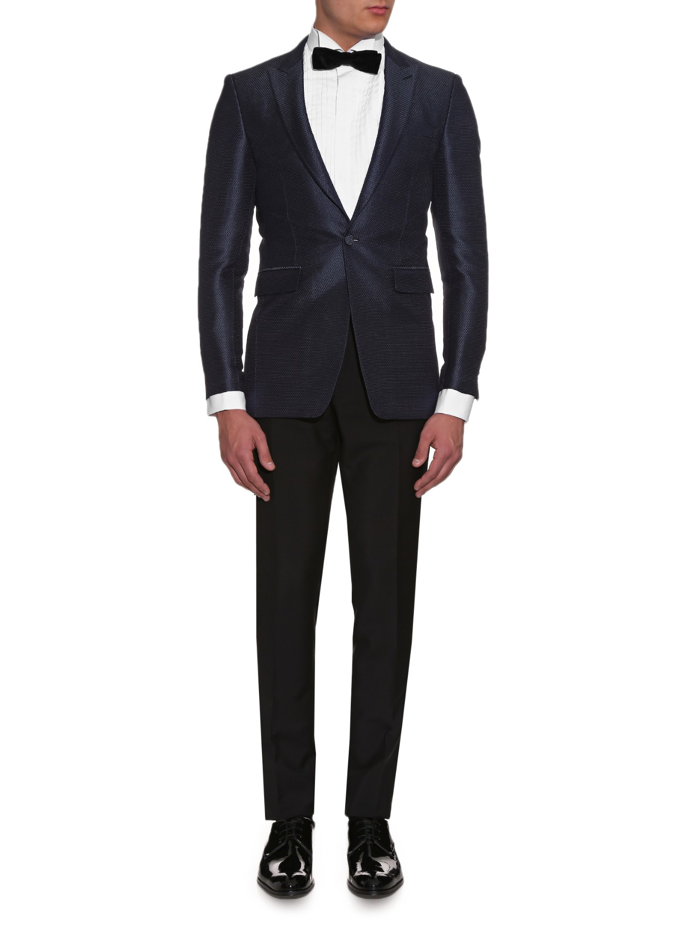 Burberry Canvas Latham Slim-fit Blazer in Navy (Blue) for Men