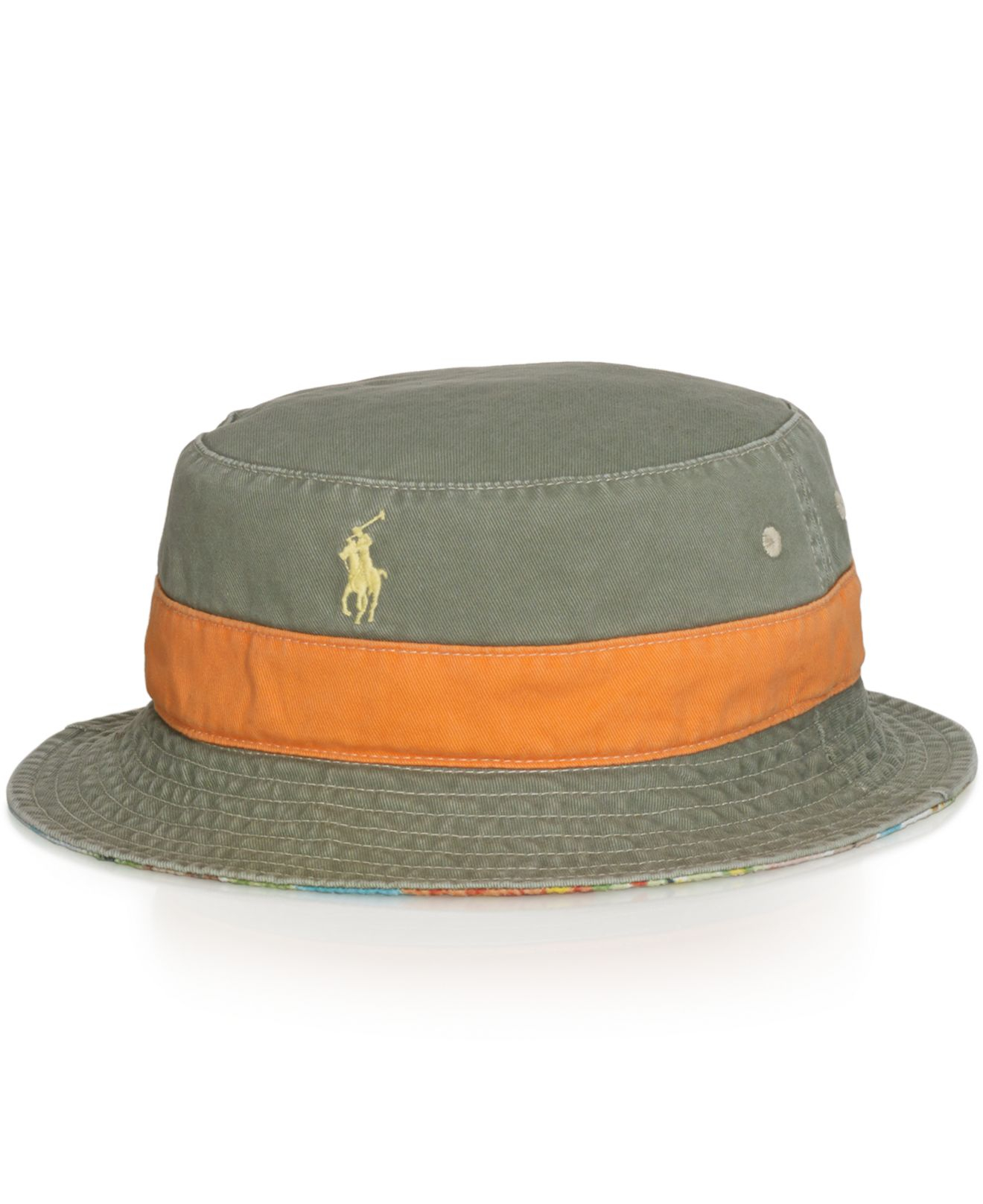 3ea21e8d6041d ... best price lyst polo ralph lauren reversible bucket hat for men 08b01  0e4f6