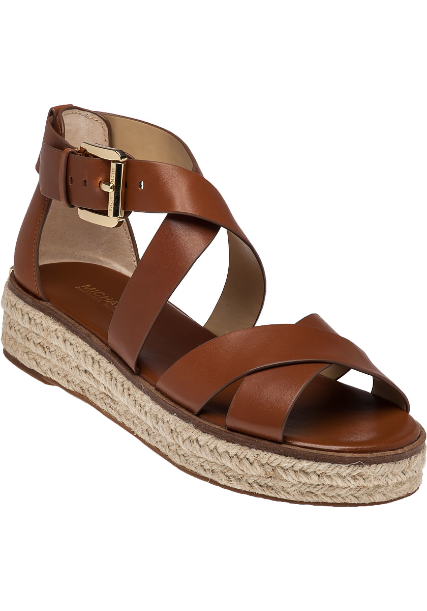 59603cde130 Lyst - MICHAEL Michael Kors Darby Leather Platform Sandals in Brown