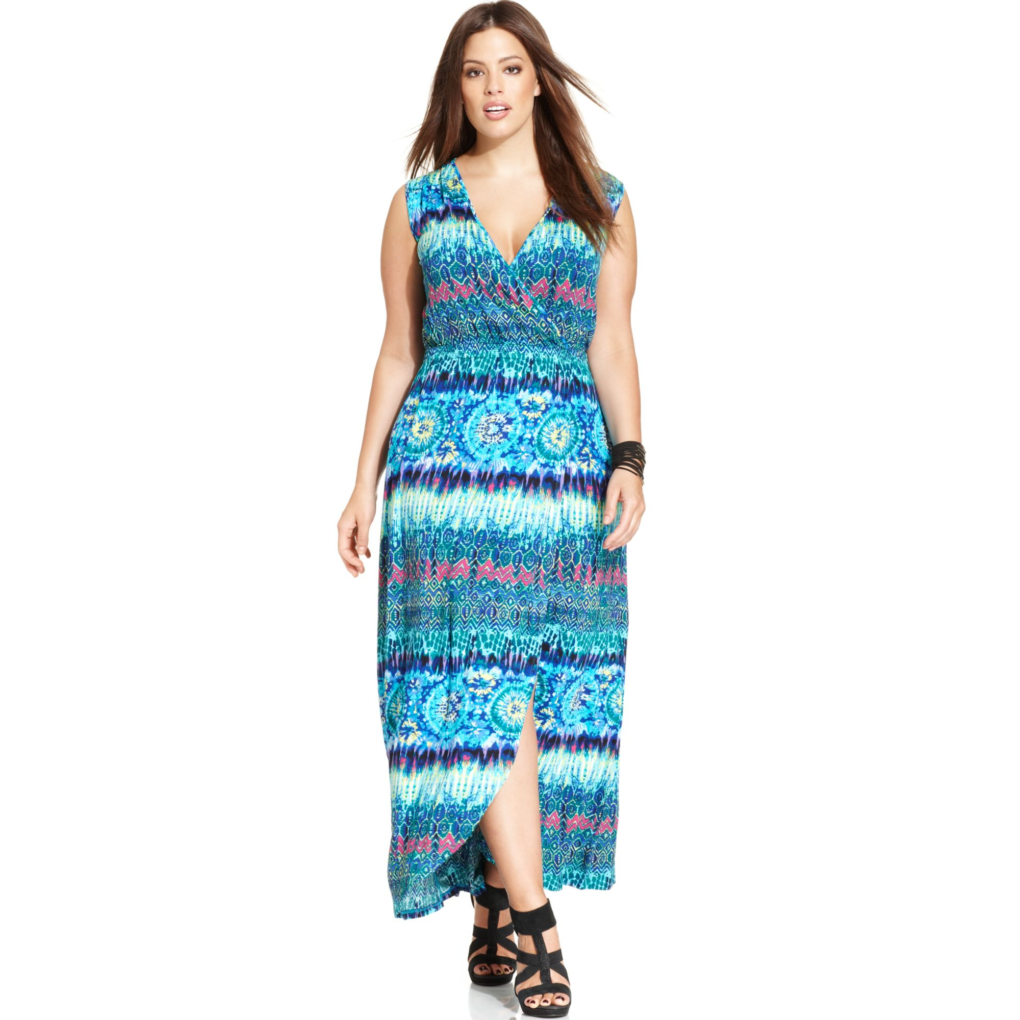 Spense Plus Size Fauxwrap Maxi Dress Lyst