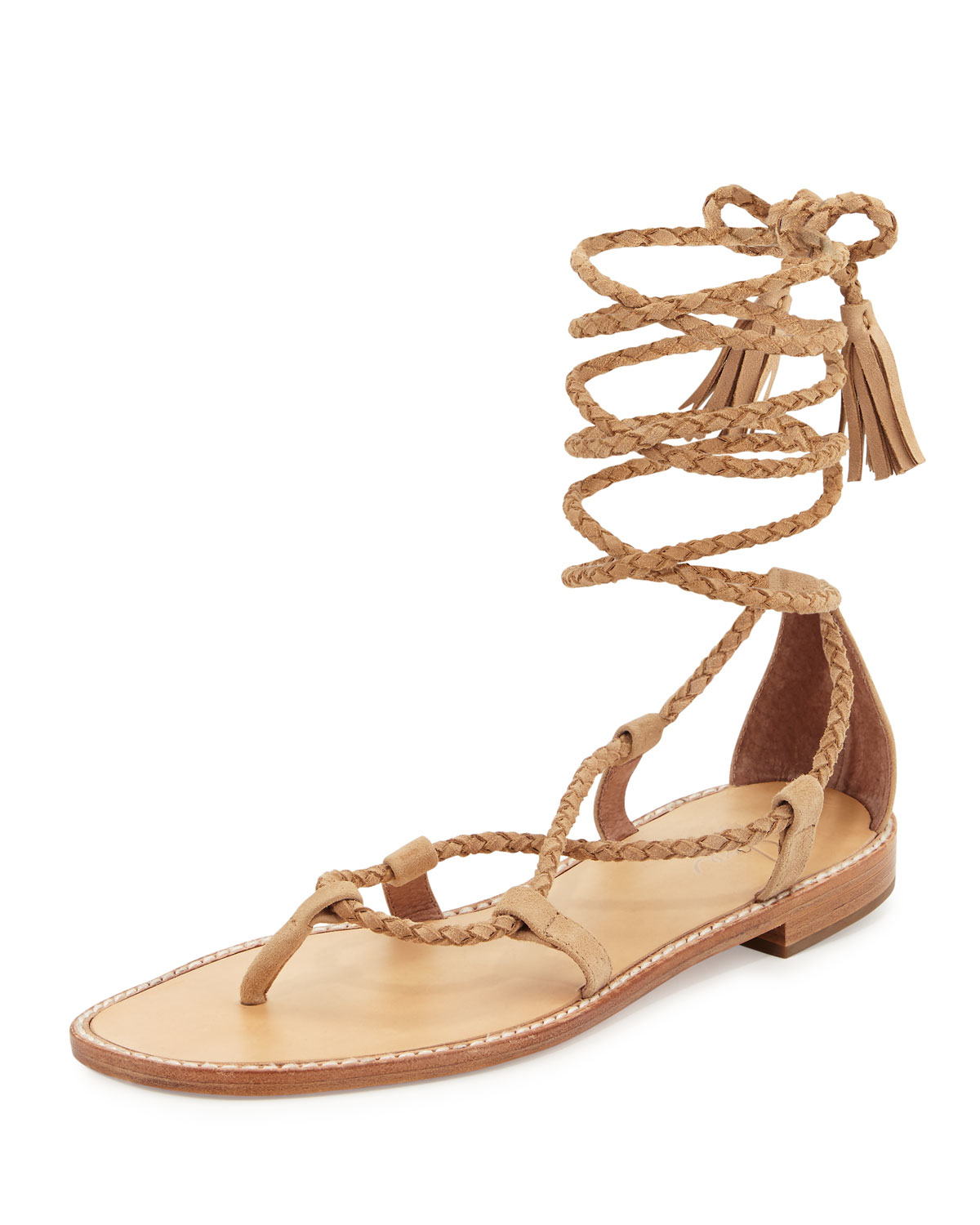 Joie Bailee Lace Up Flat Gladiator Sandal In Natural Lyst