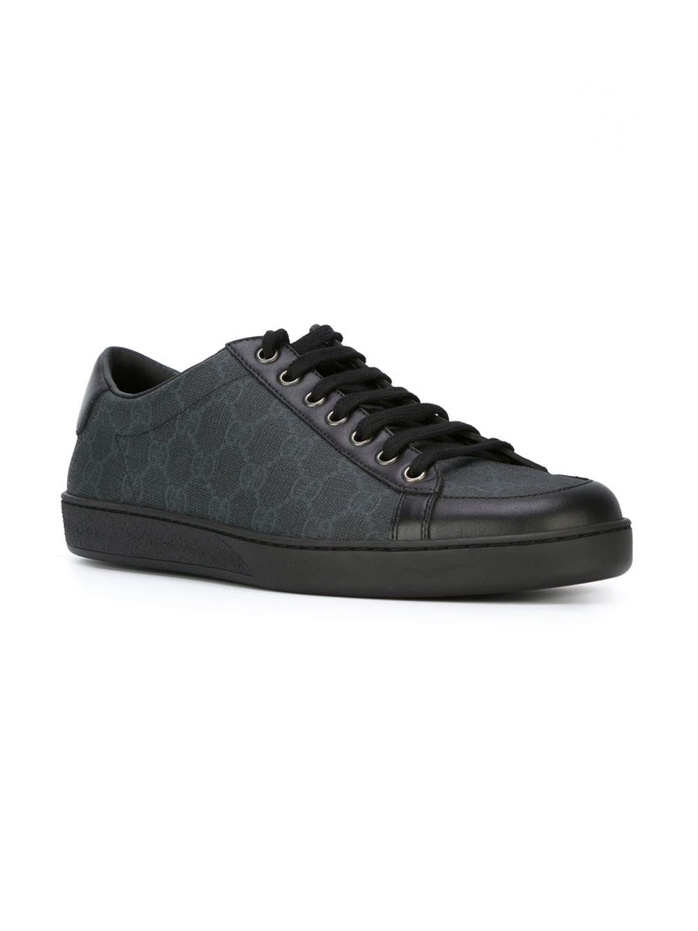 9e3ed8405 Gucci Sneaker Allacciate In Tessuto Gg Supreme in Black for Men - Lyst