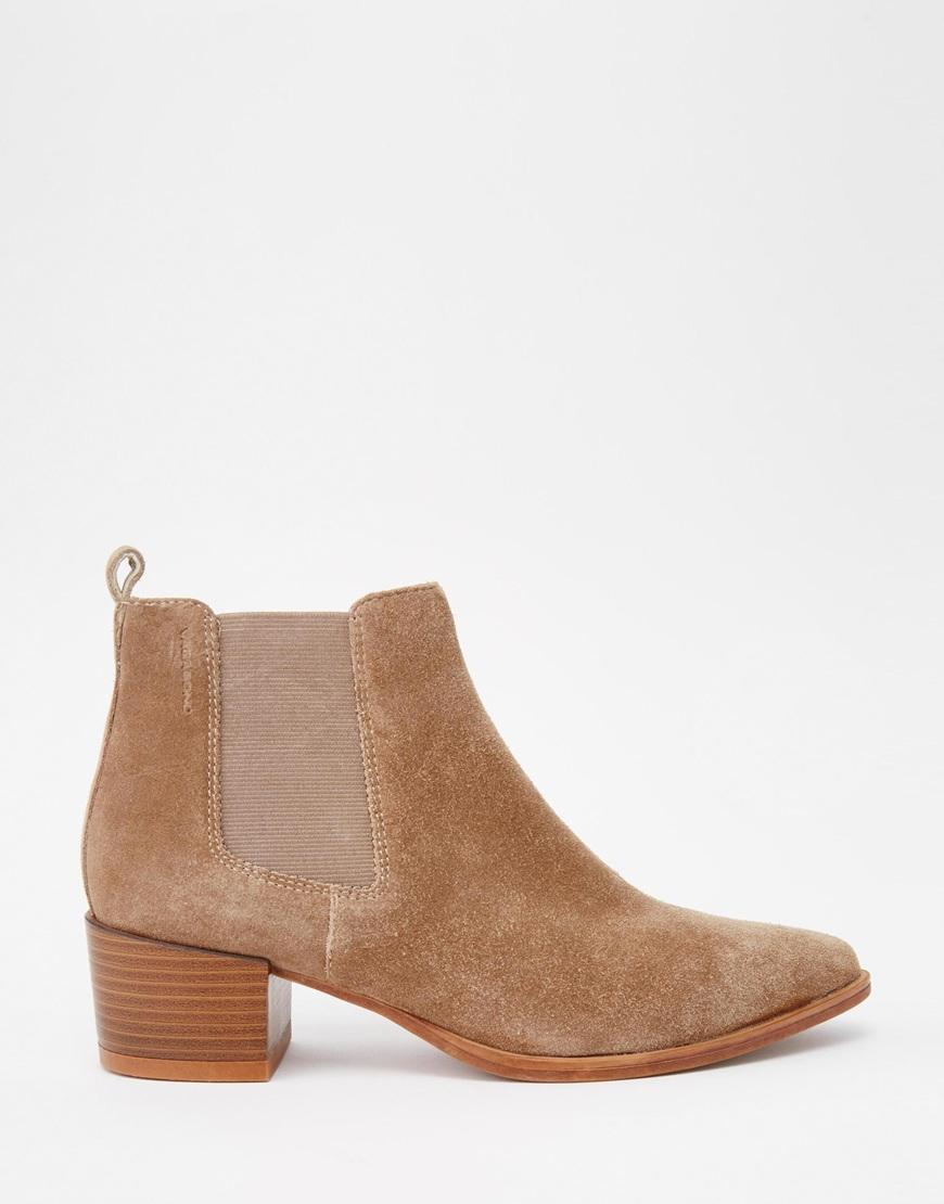 vagabond emira beige suede ankle boots beige in brown lyst. Black Bedroom Furniture Sets. Home Design Ideas