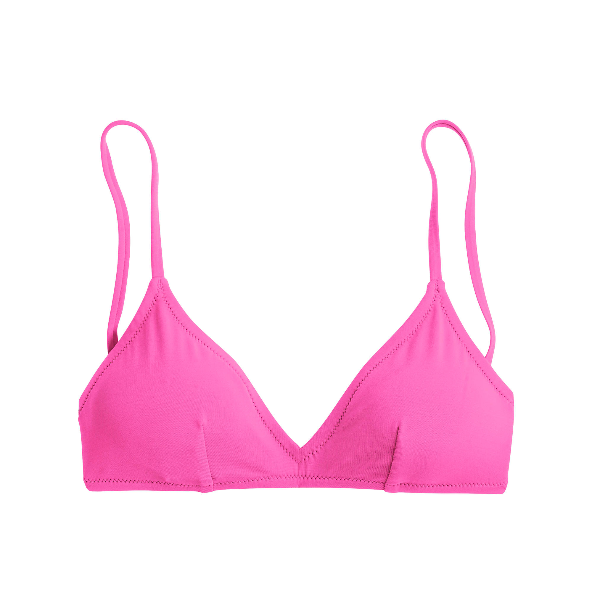 lyst j crew neon french bikini top in pink. Black Bedroom Furniture Sets. Home Design Ideas