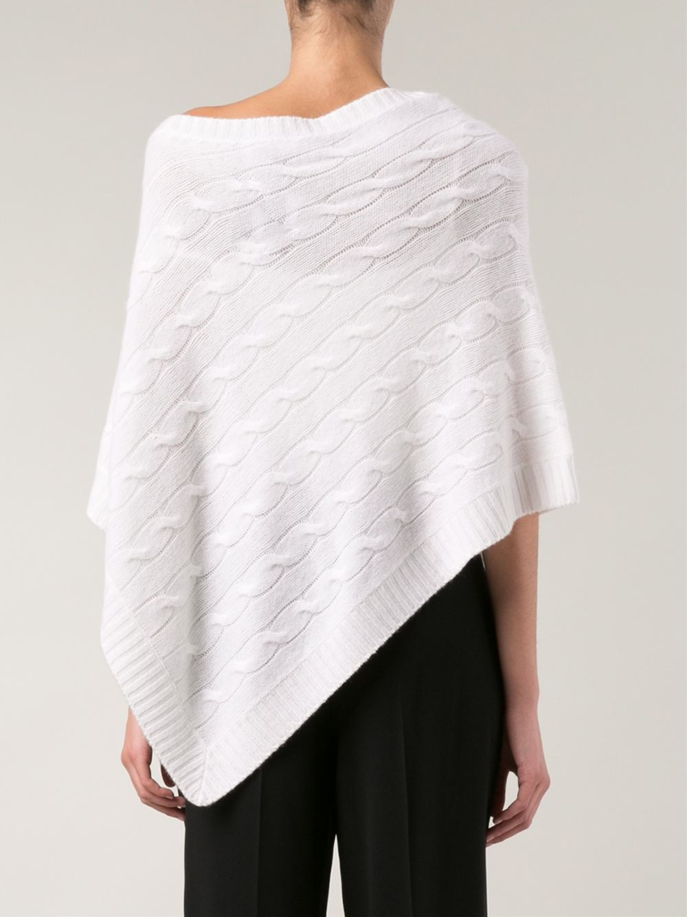 Lyst Ralph Lauren Black Label Cable Knit Cashmere Poncho