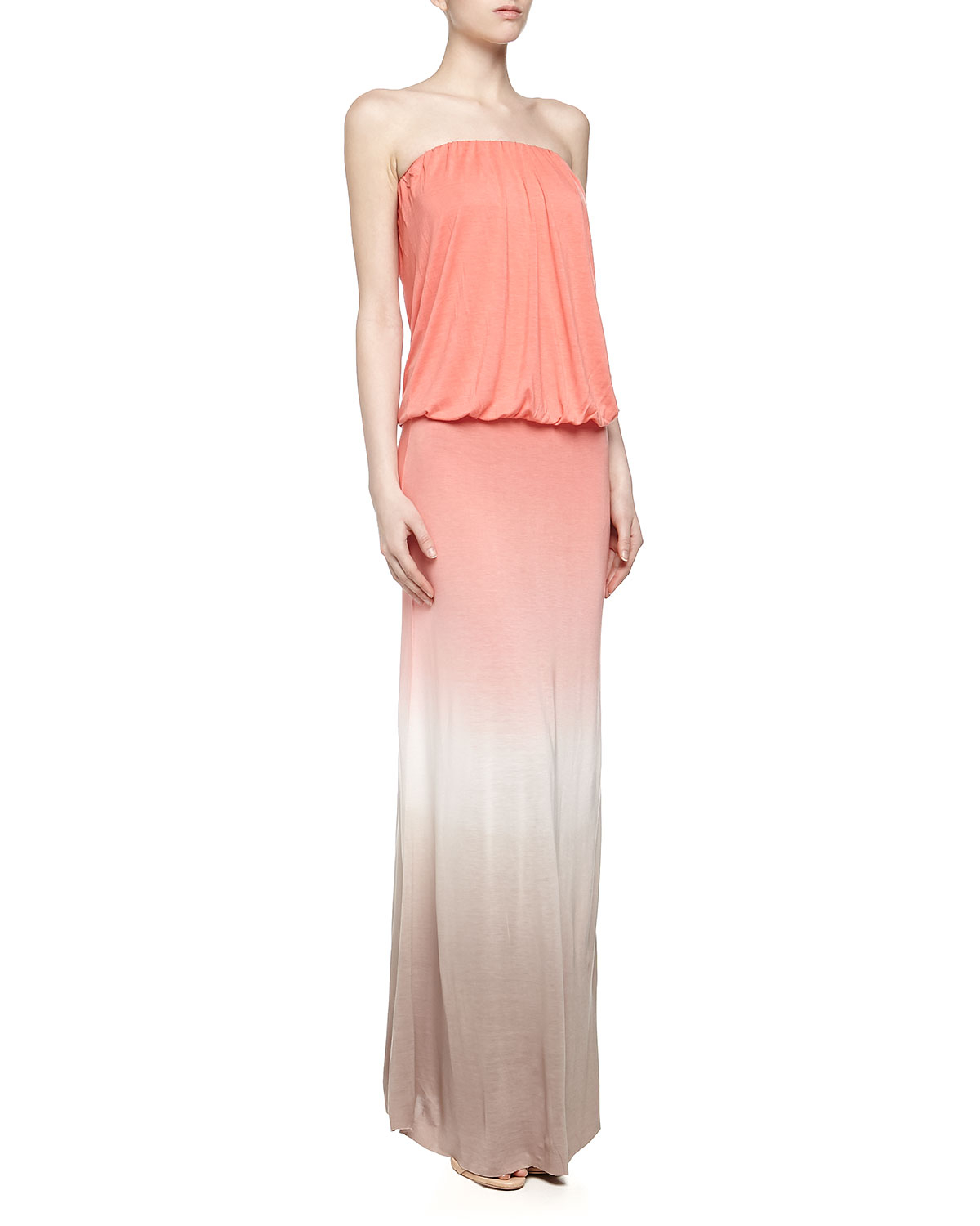 Young fabulous & broke Sydney Strapless Sherbet Ombre Maxi ...