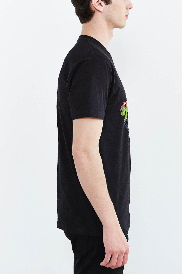 Lyst Urban Outfitters Teenage Mutant Ninja Turtles Mask Japanese Tee In Black For Men