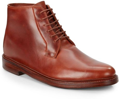 florsheim by duckie brown leather laceup ankle boots in