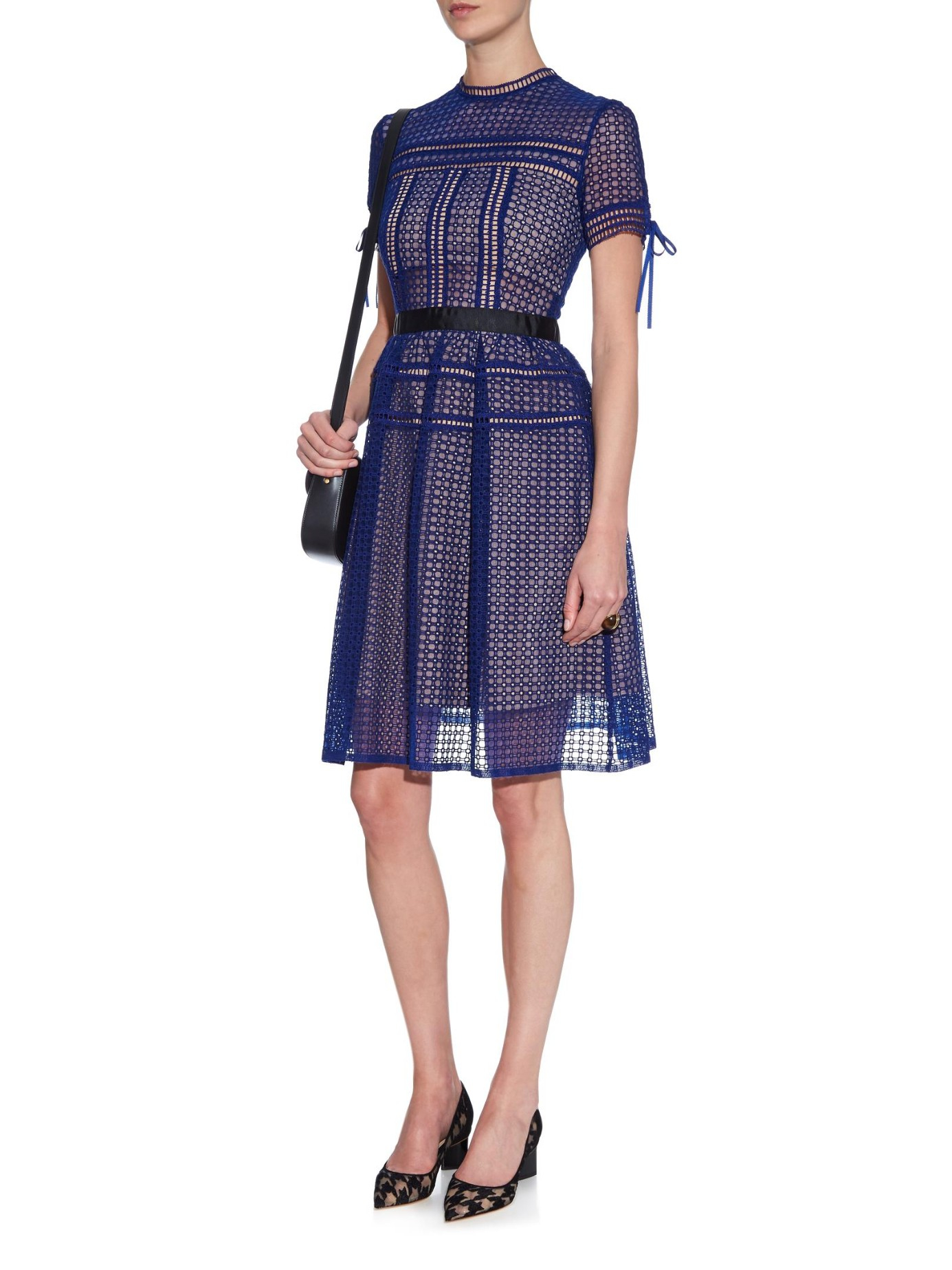Self Portrait Aurelia Lace Dress In Blue Lyst